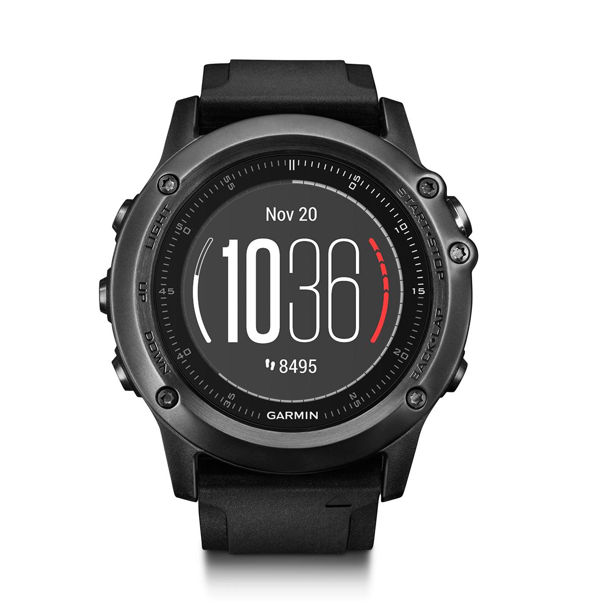 Умные часы Garmin  Fenix 3 Sapphire HR , цвет: черный, серый. 010-01338-71 - Умные часы