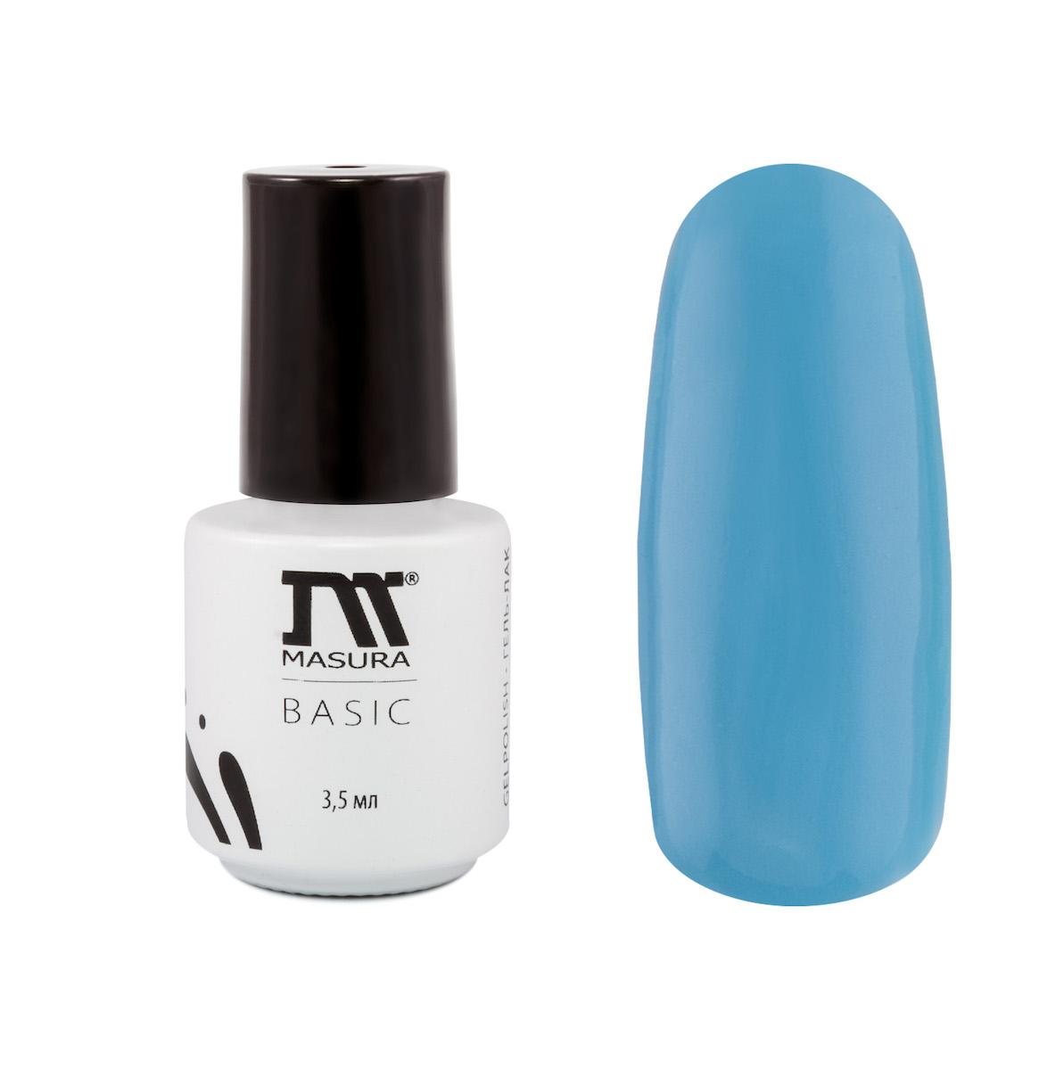 Masura Гель-лак BASIC Мечты сбываются 3,5 мл1301210Небесно-голубой, без блесток и перламутра, плотный