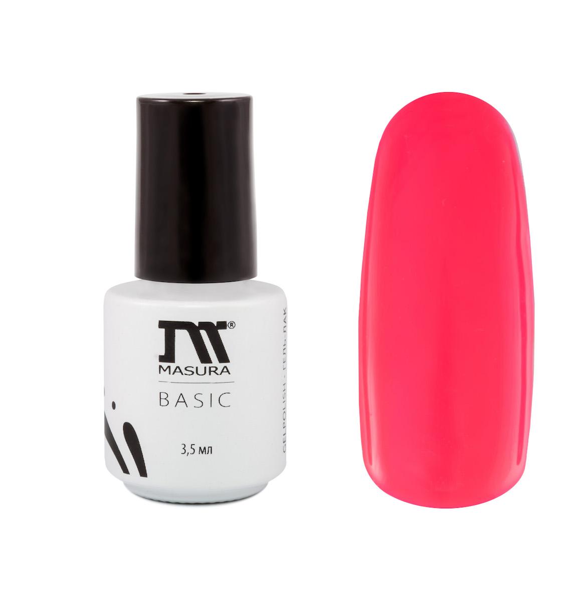 Masura Гель-лак BASIC Поцелуй на Вылет 3,5 мл28032022Неоново-розовый, без блесток и перламутра, плотный