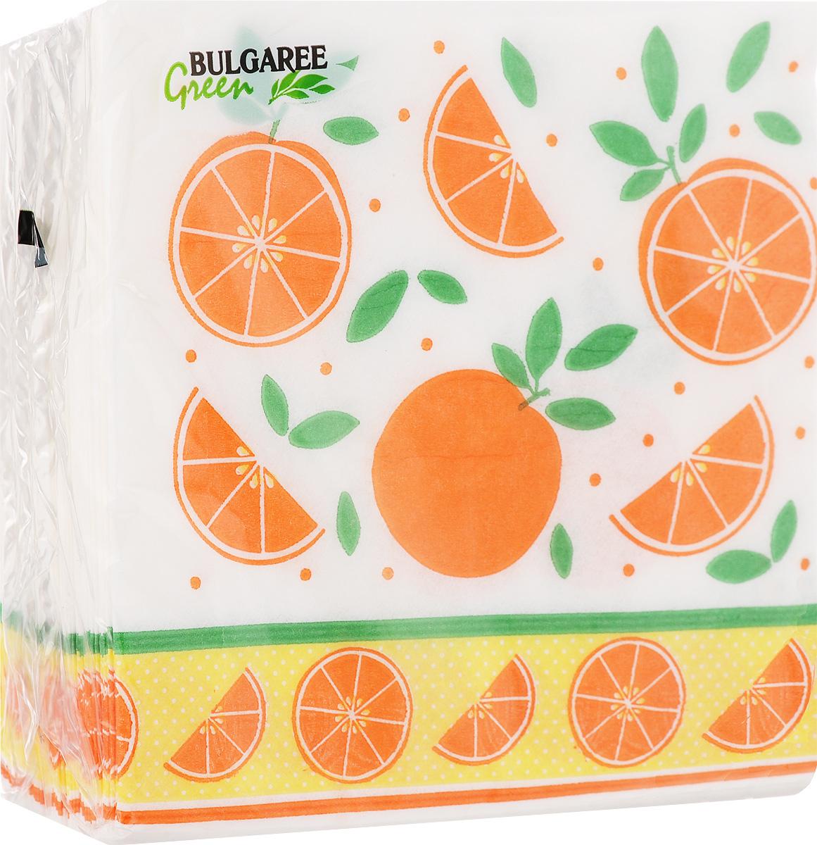 Салфетки бумажные Bulgaree Green Апельсины, однослойные, 24 х 24 см, 100 шт20808Декоративные однослойные салфетки Bulgaree Green Апельсины выполнены из 100%целлюлозы европейского качества и оформлены ярким рисунком. Изделия станут отличным дополнением любого праздничного стола. Они отличаются необычной мягкостью, прочностью и оригинальностью.Размер салфеток в развернутом виде: 24 х 24 см.