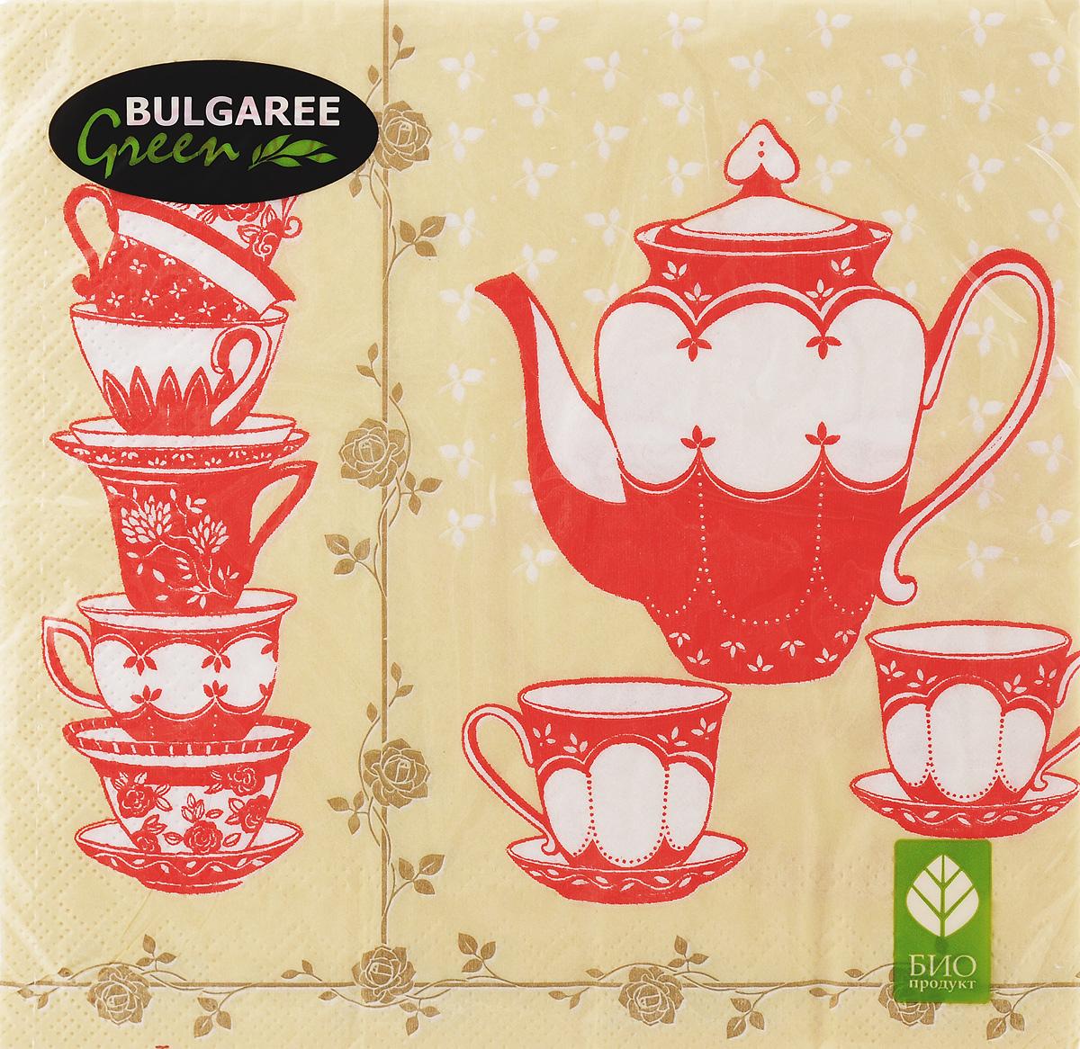 Салфетки бумажные Bulgaree Green Чайная церемония, трехслойные, 33 х 33 см, 20 штTC-14FL-ACДекоративные трехслойные салфетки Bulgaree Green Чайная церемония выполнены из 100%целлюлозы европейского качества и оформлены ярким рисунком. Изделия станут отличным дополнением любого праздничного стола. Они отличаются необычной мягкостью, прочностью и оригинальностью.Размер салфеток в развернутом виде: 33 х 33 см.