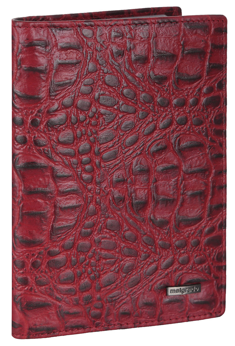 Обложка для документов женская Malgrado, цвет: красный. 54019-1-50801BM8434-58AEЭлегантная обложка для документов Malgrado выполнена из натуральной кожи с декоративным фактурным тиснением под кожу рептилии. Изделие оформлено металлической пластиной с гравировкой в виде символики бренда.Изделие может послужить как для хранения автодокументов, так и паспорта. Внутри содержится съемный блок из шести прозрачных файлов для автодокументов, также имеется пять кармашков для визиток или пластиковых карт. Обложка упакована в подарочную коробку с логотипом фирмы.Обложка поможет сохранить внешний вид ваших документов, защитит их от повреждений, а также станет стильным аксессуаром, который подчеркнет ваш образ.
