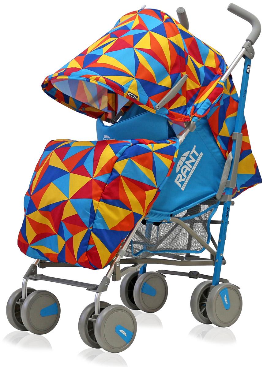 Rant Коляска прогулочная Molly Alu цвет голубой  коляска трость rant molly alu 2016 origami brown