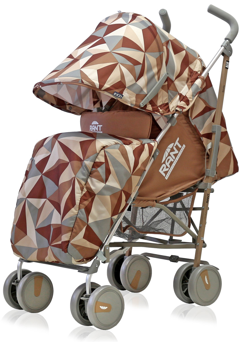 Rant Коляска прогулочная Molly Alu цвет коричневый  коляска трость rant molly alu 2016 origami brown