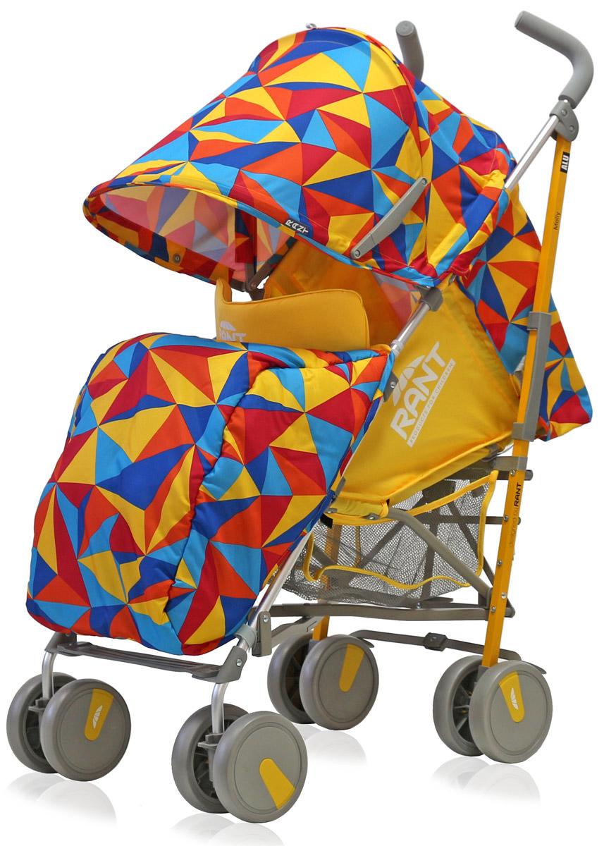 Rant Коляска прогулочная Molly Alu цвет желтый  коляска трость rant molly alu 2016 origami brown