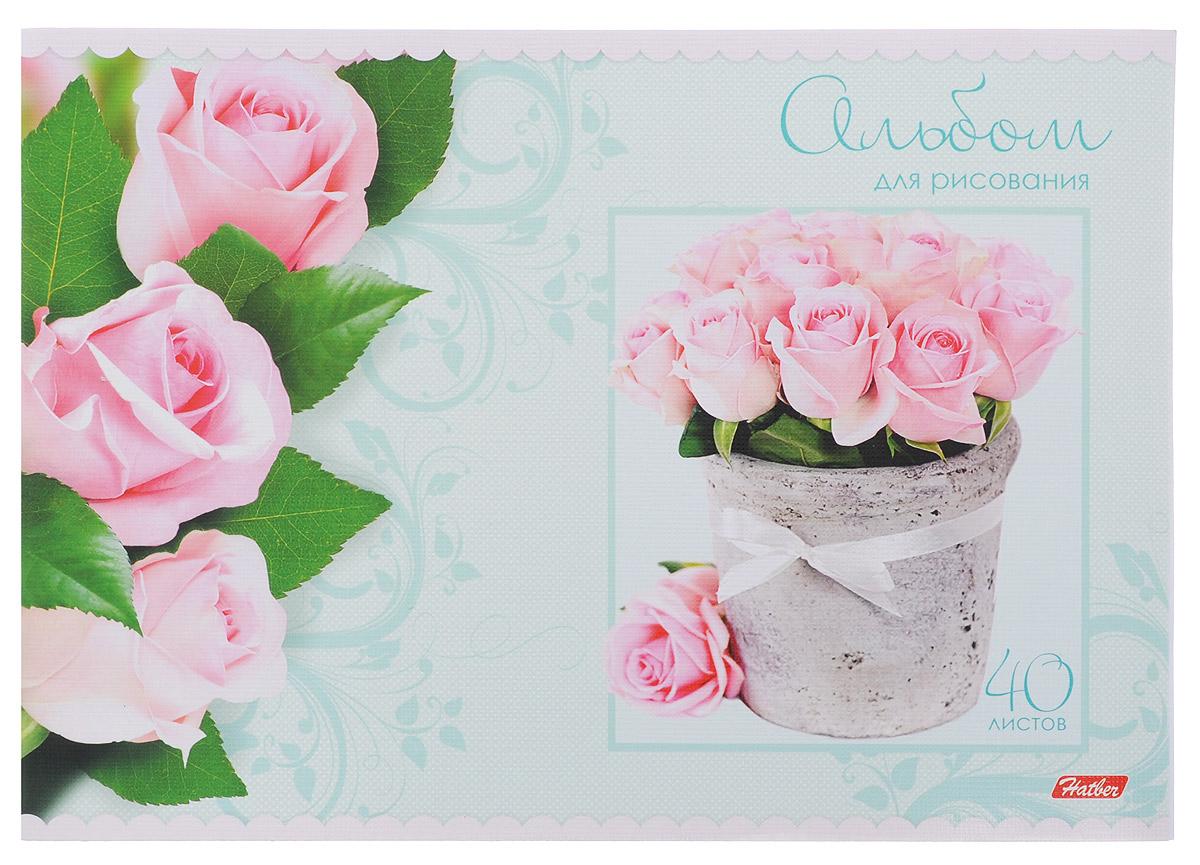 Hatber Альбом для рисования Розы цвет голубой 40 листов72523WDАльбом для рисования Hatber Розы непременно порадует маленького художника и вдохновит его на творчество. Альбом изготовлен из белоснежной офсетной бумаги с яркой обложкой из мелованного картона, оформленной красочным изображением цветов.Высокое качество бумаги позволяет рисовать в альбоме карандашами, фломастерами, акварельными и гуашевыми красками.Внутренний блок состоит из 40 листов, скрепленных двумя металлическими скрепками.
