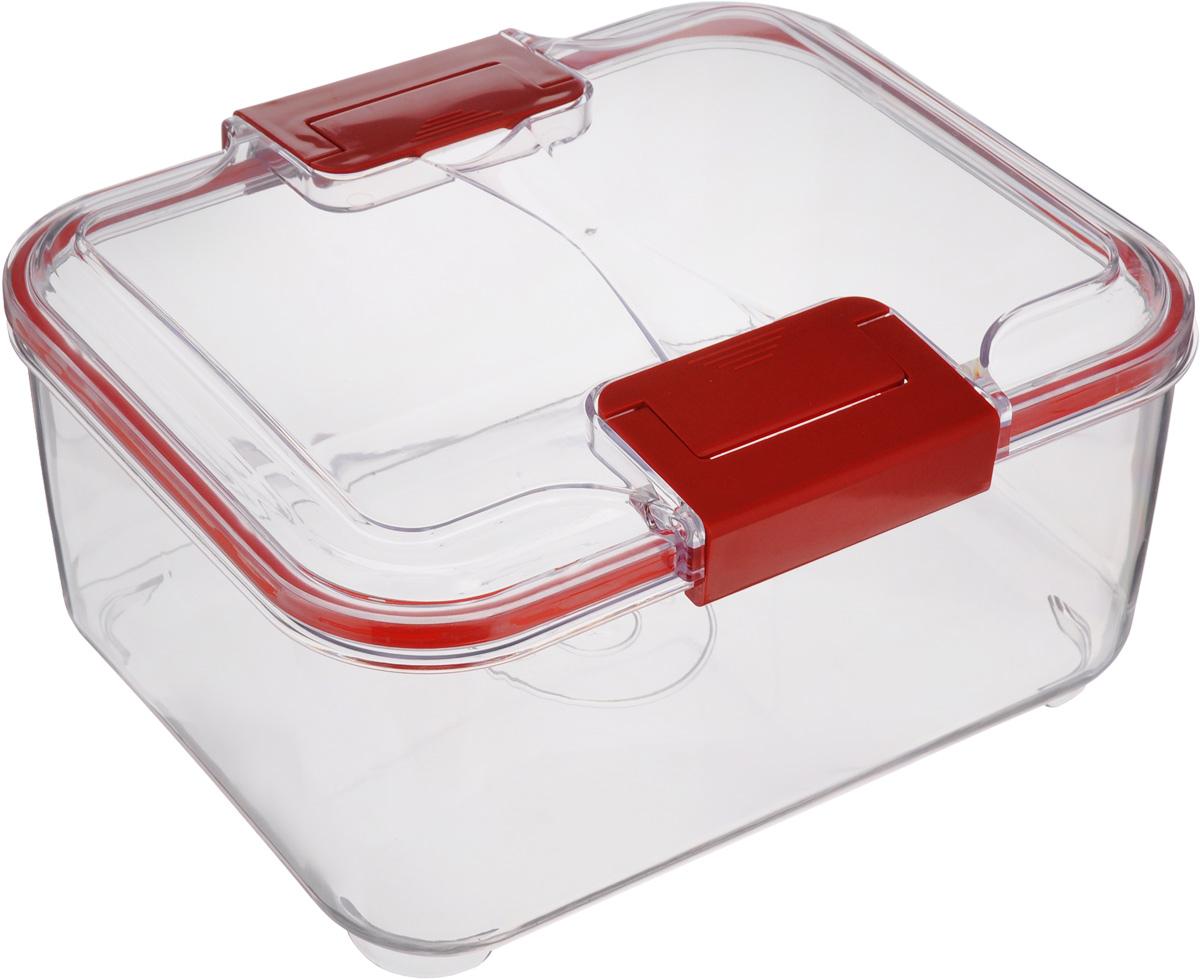 Контейнер Status, цвет: прозрачный, красный, 2 л контейнер 2 9 л пищевой bekker контейнер 2 9 л пищевой