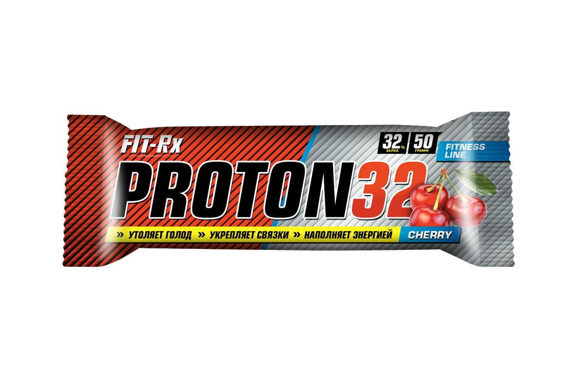 Батончик FIT-RX  Протон 32. Вишня , 24 шт x 50 г - Спортивное питание