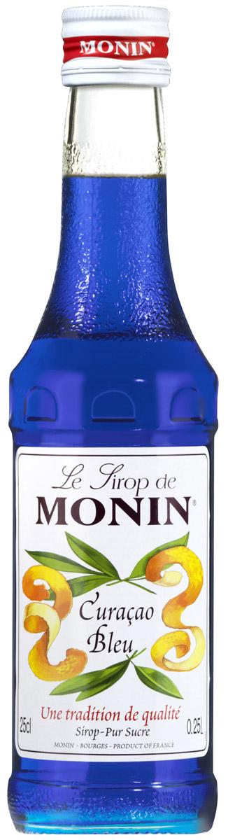 Monin Блю Кюрасао сироп, 0,25 л0120710Кюрасао - ликер ароматизированный с сушеной кожурой зеленых апельсинов первоначально из Вест-Индии с острова Кюрасао, тропического рая, с красивыми уединенными пляжами чтобы наслаждаться солнечным светом большую часть дней в году. Ликер имеет апельсиновый вкус с различной степенью горечи. Наиболее распространенный синий Кюрасао. Его безалкогольная версия прежде всего используется, чтобы добавить легкий экзотический аромат внапитки. Синий цвет сиропа со вкусом апельсина идеально подходит для фантазий в приготовлении напитков! Имеет запах апельсиновой кожуры и вкус апельсиновой конфеты.Применение:Газированные напитки, коктейли, фруктовые пунши.Сиропы Monin выпускает одноименная французская марка, которая известна как лидирующий производитель алкогольных и безалкогольных сиропов в мире. В 1912 году во французском городке Бурже девятнадцатилетний предприниматель Джордж Монин основал собственную компанию, которая специализировалась на производстве вин, ликеров и сиропов. Место для завода было выбрано не случайно: город Бурже находился в непосредственной близости от крупных сельскохозяйственных районов — главных поставщиков свежих ягод и фруктов.Производство сиропов стало ключевым направлением деятельности компании Monin только в 1945 году, когда пост главы предприятия занял потомок основателя — Пол Монин. Именно под его руководством ассортимент марки пополнился разнообразными сиропами из натуральных ингредиентов, которые молниеносно заслужили блестящую репутацию в кругу поклонников кофейных напитков и коктейлей. По сей день высокое качество остается базовым принципом деятельности французской марки. Сиропы Монин создаются исключительно из натуральных ингредиентов по уникальным технологиям, позволяющим сохранять в готовом продукте все полезные свойства природного сырья.Эксперты всего мира сходятся во мнении, что сиропы Monin — это «законодатели мод» в миксологии. Ассортимент французской марки на сегодняшний день является самым широким 