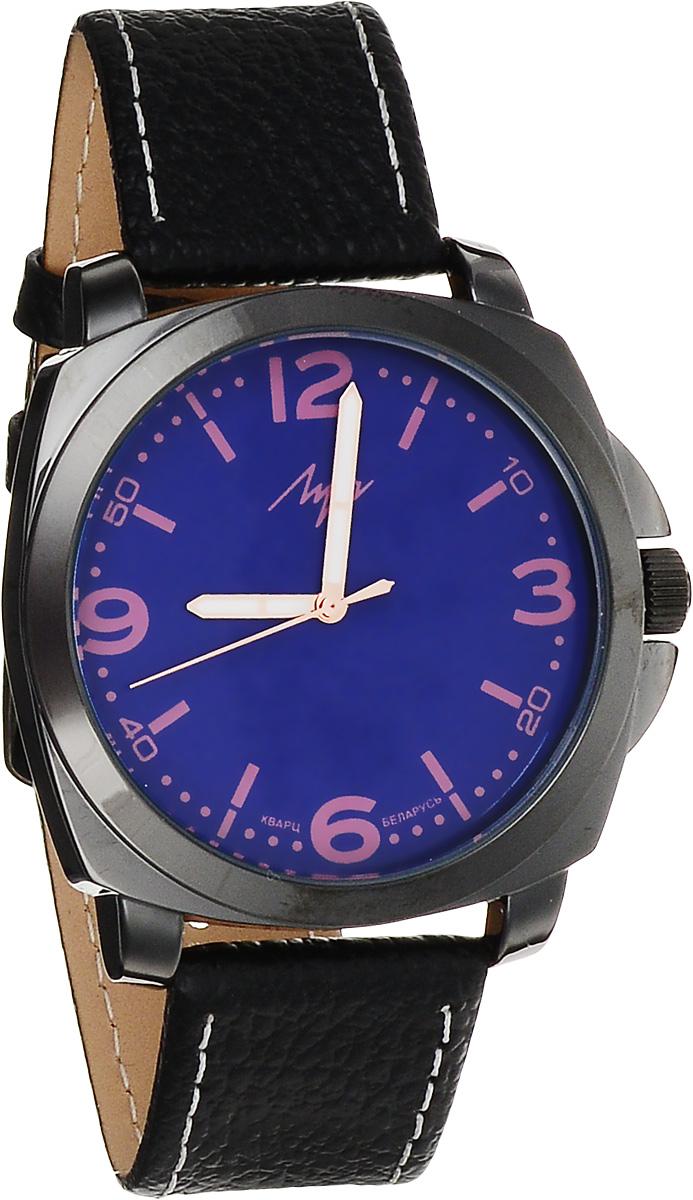 Часы наручные женские Луч Современная, цвет: черный, фиолетовый. 729107283BM8434-58AEСтильные женские часы Луч Современная изготовлены из нержавеющей стали и минерального стекла. Циферблат часов оформлен символикой бренда.Корпус часов имеет степень влагозащиты равную 3 Bar, оснащен кварцевым механизмом Miyota, а также дополнен устойчивым к царапинам минеральным стеклом. На стрелки нанесен светящийся состав. Практичная пряжка, дополняющая ремешок из натуральной кожи, позволит с легкостью снимать и надевать часы.Часы поставляются в фирменной упаковке.Часы Луч Современная подчеркнут изящность женской руки и отменное чувство стиля у их обладательницы.