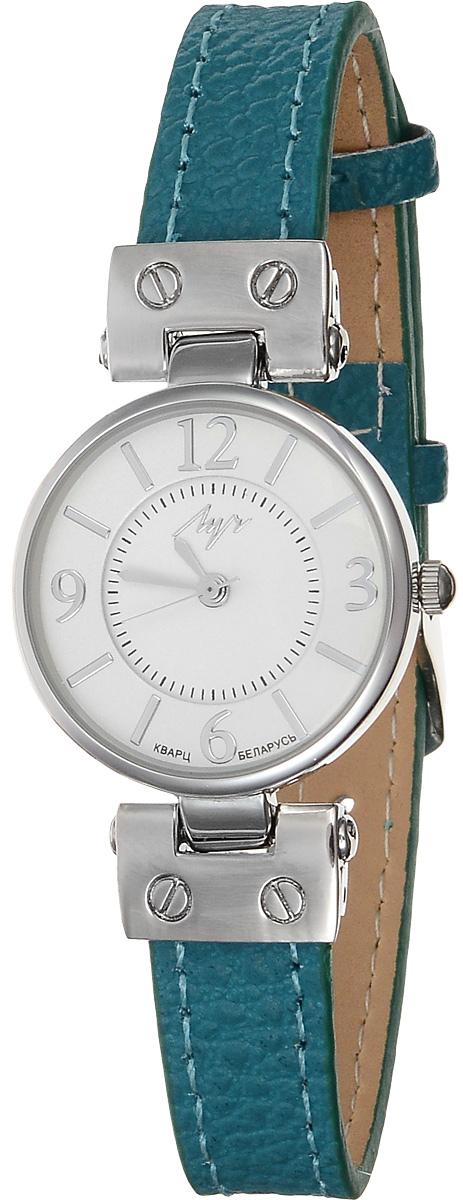 Часы наручные женские Луч Современная, цвет: серебряный, бирюзовый, белый. 729107268BM8434-58AEЭлегантные женские часы Луч Современная изготовлены из нержавеющей стали и минерального стекла. Циферблат часов оформлен символикой бренда.Корпус часов имеет степень влагозащиты равную 3 Bar, оснащен кварцевым механизмом Miyota, а также дополнен устойчивым к царапинам минеральным стеклом. Ремешок часов выполнен из натуральной кожи. Практичная пряжка, дополняющая ремешок, позволит с легкостью снимать и надевать часы.Часы поставляются в фирменной упаковке.Часы Луч Современная подчеркнут изящность женской руки и отменное чувство стиля у их обладательницы.