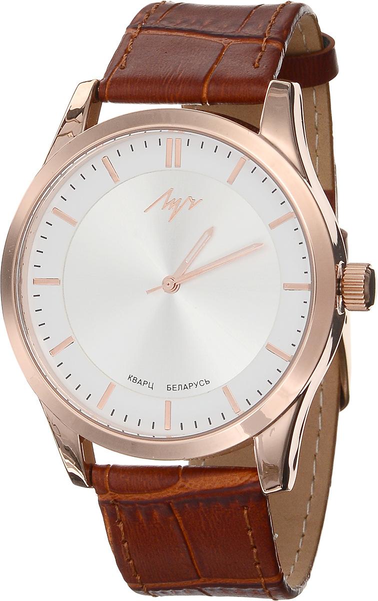 Часы наручные женские Луч Современная, цвет: золотой, коричневый. 729107281BM8434-58AEСтильные женские часы Луч Современная изготовлены из нержавеющей стали и минерального стекла. Циферблат часов оформлен символикой бренда.Корпус часов имеет степень влагозащиты равную 3 Bar, оснащен кварцевым механизмом Miyota, а также дополнен устойчивым к царапинам минеральным стеклом. На стрелки нанесен светящийся состав. Практичная пряжка, дополняющая ремешок из натуральной кожи, позволит с легкостью снимать и надевать часы.Часы поставляются в фирменной упаковке.Часы Луч Современная подчеркнут изящность женской руки и отменное чувство стиля у их обладательницы.
