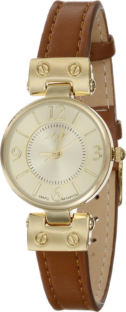 Часы наручные женские Луч Современная, цвет: золотой, коричневый. 729107269BM8434-58AEЭлегантные женские часы Луч Современная изготовлены из нержавеющей стали и минерального стекла. Циферблат часов оформлен символикой бренда.Корпус часов имеет степень влагозащиты равную 3 Bar, оснащен кварцевым механизмом Miyota, а также дополнен устойчивым к царапинам минеральным стеклом. Ремешок часов выполнен из натуральной кожи. Практичная пряжка, дополняющая ремешок, позволит с легкостью снимать и надевать часы.Часы поставляются в фирменной упаковке.Часы Луч Современная подчеркнут изящность женской руки и отменное чувство стиля у их обладательницы.