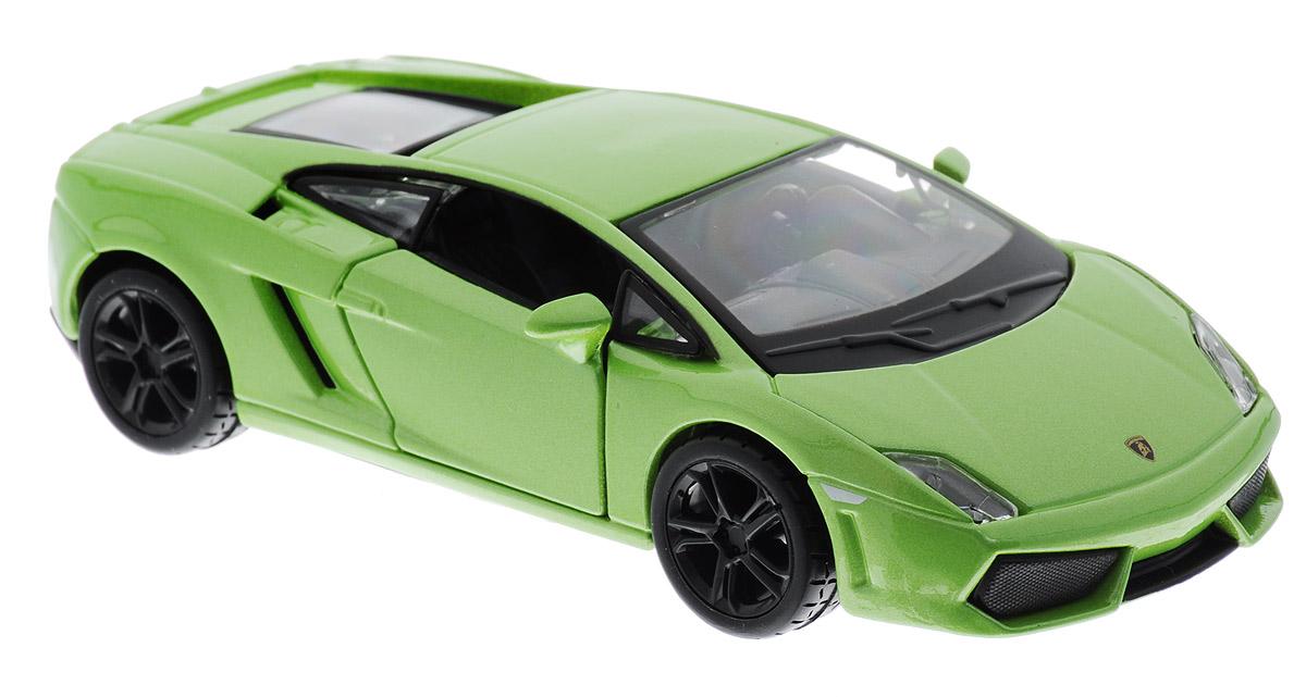 Bburago Модель автомобиля Lamborghini Gallardo LP 560-4 цвет салатовый технопарк машинка инерционная lamborghini gallardo lp 560 4 цвет красный