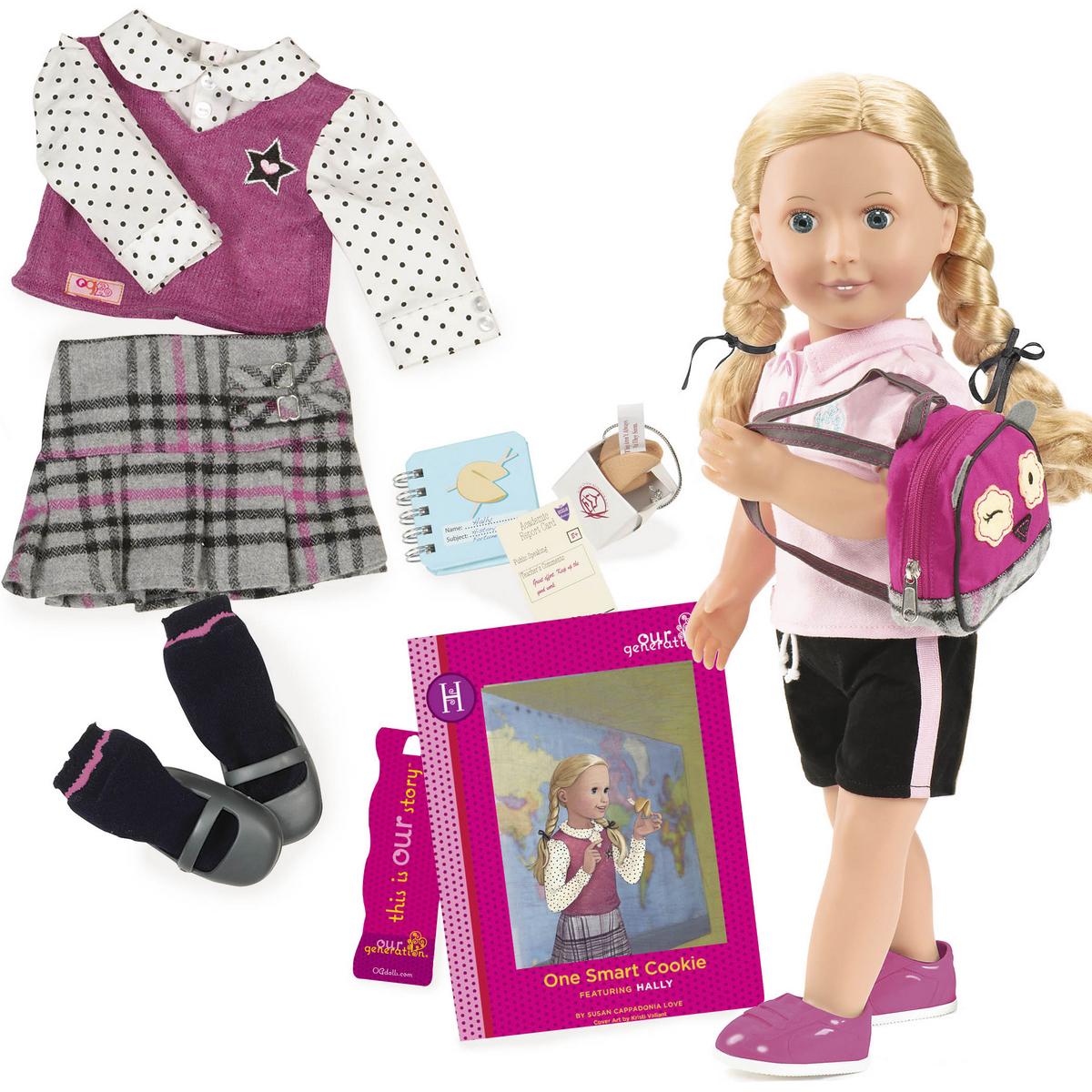 Our Generation Кукла Холли с книгой Печенье с предсказанием для умницы our generation dolls кукла делюкс 46 см холли и печенье с предсказанием для умницы