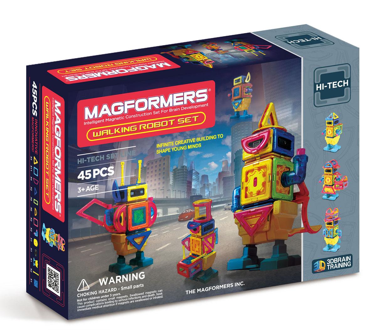 Magformers Магнитный конструктор Walking Robot Set magformers магнитный конструктор my first buggy car set цвет красный