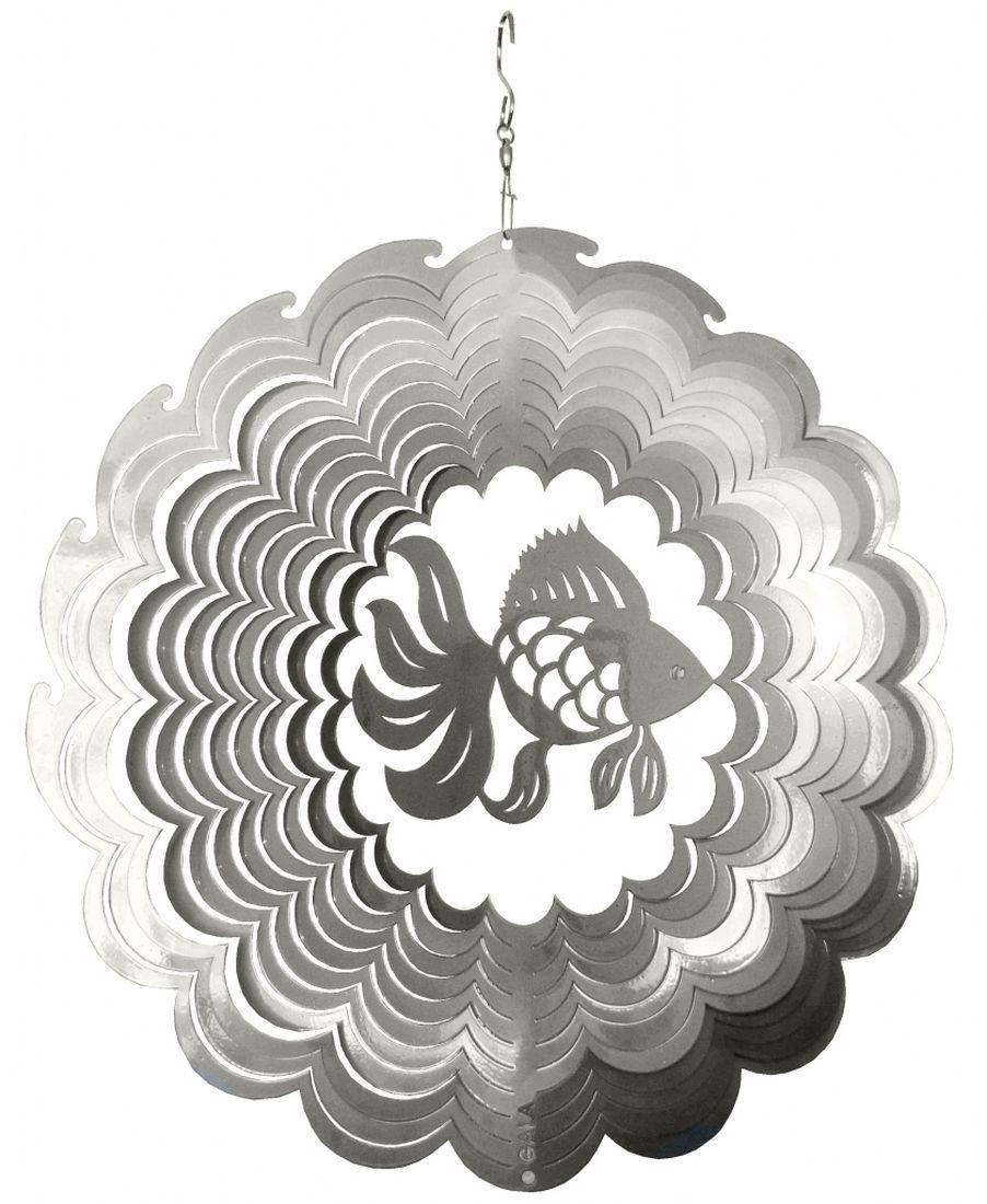Фигурка садовая Gala Рыбка, 29,7 х 30 смZ-0307Фигурка Gala Рыбка, выполненная из металла, вращается при помощи ветра. Она позволит создать оригинальную декорацию, которая украсит собой ваш сад и добавит в него ярких красок. Прочная и износостойкая фигурка будет радовать вас много лет. Декоративные садовые фигурки представляют собой последний штрих при создании ландшафтного дизайна дачного или приусадебного участка. Они позволяют создать правдоподобную декорацию и почувствовать себя среди живой природы. Кроме этого, веселые и незатейливые, они поднимут настроение вам, вашим друзьям и родным.