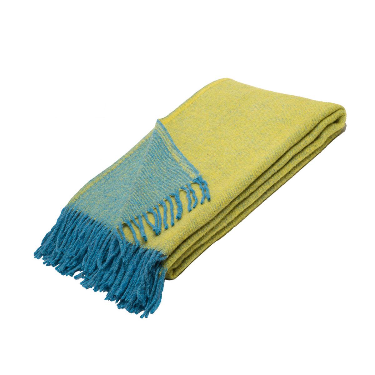 Плед Руно Дуэт, цвет: желтый, голубой, 140 х 200 см. 1-531-140 (69)FA-5125 WhiteПлед Руно Дуэт гармонично впишется в интерьер вашего дома и создаст атмосферу уюта и комфорта. Чрезвычайно мягкий и теплый плед с кистями изготовлен из натуральной овечьей шерсти. Высочайшее качество материала гарантирует безопасность не только взрослых, но и самых маленьких членов семьи.Плед - это такой подарок, который будет всегда актуален, особенно для ваших родных и близких, ведь вы дарите им частичку своего тепла!