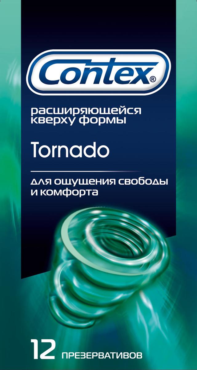 Contex презервативы Tornado, ощущение свободы, 12 шт5060040302224Презервативы Сontex Tornado специальной формы в силиконовой смазке с накопителем. Презервативы создадут ощущение комфорта и дополнительной свободы. Вы считаете, что стандартные презервативы тесноваты и недостаточно соответствуют особенностям вашей анатомии. Contex Tornado имеют специальное расширение. Чувство свободы будет по-настоящему оценено многими мужчинами. Характеристики:Материал презерватива: латекс. Количество презервативов: 12. Длина презерватива: 18 см. Ширина презерватива: 5,2 см. Толщина стенки презерватива: 0,06 мм. Производитель: Великобритания. Товар сертифицирован.