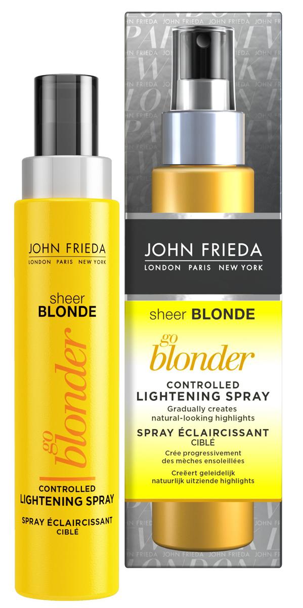 John Frieda Спрей для волос Sheer Blonde, осветляющий, 100 млFS-00897Постепенно осветляет до натурального тона. Осветляет русые волосы примерно на полтора тона. Эксклюзивная формула спрея работает при тепловом воздействии фена или выпрямителя и осветляет постепенно за 3-5 применений. Применение: Для наилучшего эффекта осветления нанесите спрей после использования кондиционера на подсушенные полотенцем волосы, далее приступайте к обычной укладке. Для оптимального осветления используйте выпрямитель для волос или щипцы для завивки после сушки феном. Используйте только один раз в промежутках между мытьем головы. Наносите спрей только на чистые влажные волосы. Пользуйтесь спреем не чаще 10 раз в промежутках между окрашиваниями. Тщательно нанесите спрей на волосы, убедившись, чтобы состав распределился на поверхности прядей и в глубине. Содержит перекись водорода. Применение данной продукции приведет к стойкому осветлению ваших волос. Внимательно следуйте инструкции.