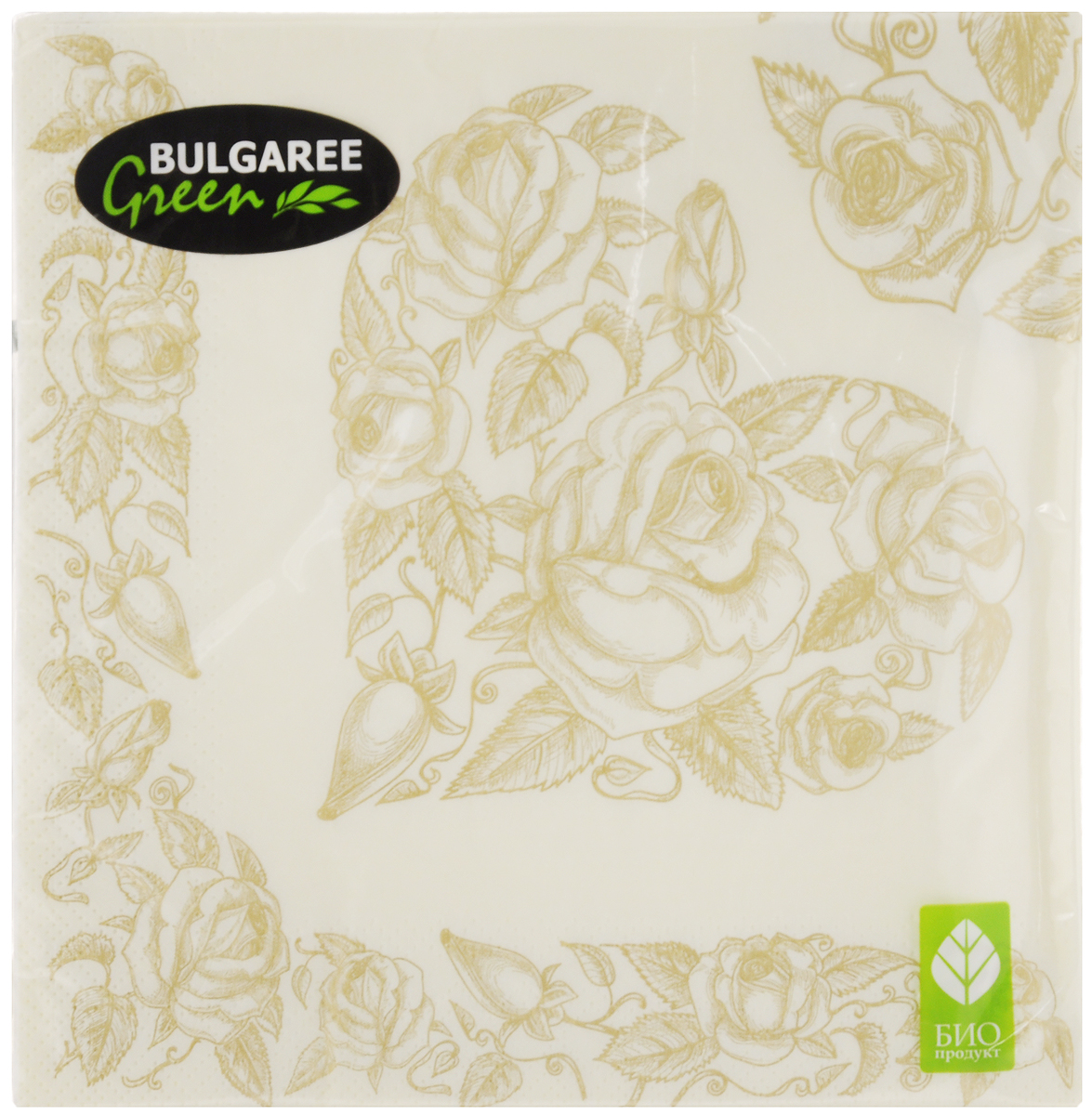 Салфетки бумажные Bulgaree Green Золотое сердце, трехслойные, 33 х 33 см, 20 штCDF-16Декоративные трехслойные салфетки Bulgaree Green Золотое сердце выполнены из 100%целлюлозы европейского качества и оформлены ярким рисунком. Изделия станут отличным дополнением любого праздничного стола. Они отличаются необычной мягкостью, прочностью и оригинальностью.Размер салфеток в развернутом виде: 33 х 33 см.