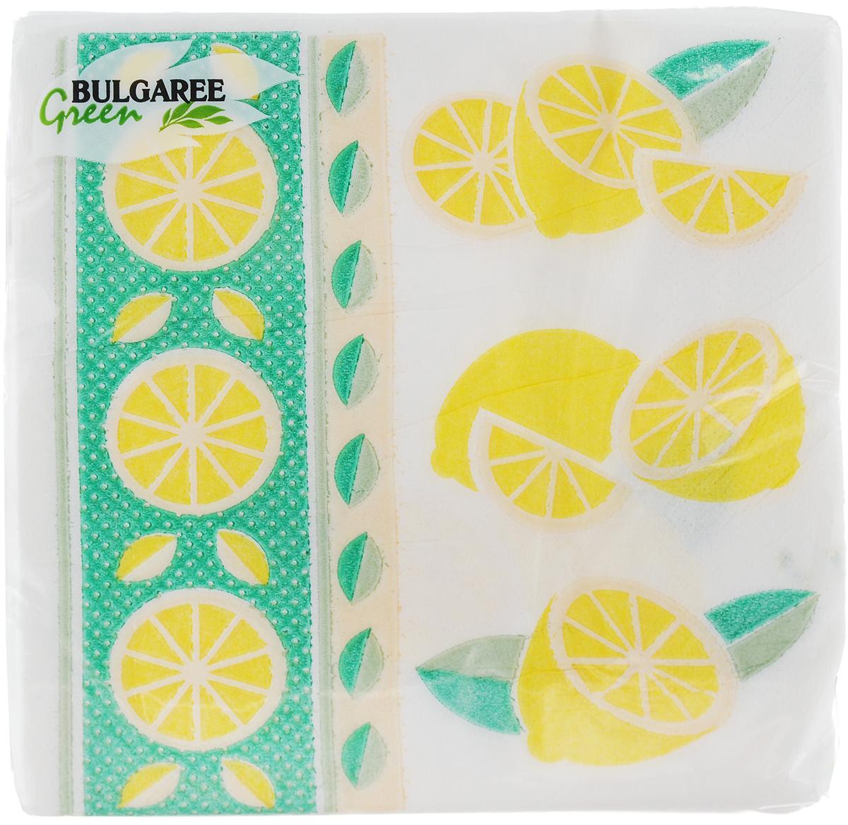 Салфетки бумажные Bulgaree Green Лимон, однослойные, 24 х 24 см, 100 шт391602Декоративные однослойные салфетки Bulgaree Green Лимон выполнены из 100%целлюлозы европейского качества и оформлены ярким рисунком. Изделия станут отличным дополнением любого праздничного стола. Они отличаются необычной мягкостью, прочностью и оригинальностью.Размер салфеток в развернутом виде: 24 х 24 см.