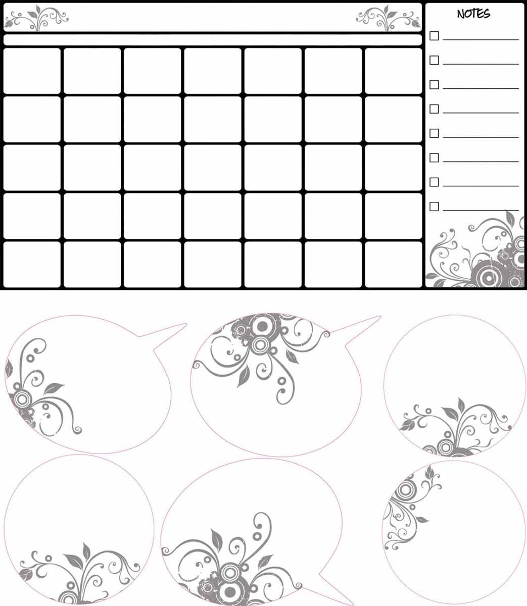 RoomMates Наклейка интерьерная Календарь для заметок300150Интерьерная наклейка RoomMates Календарь для заметок обязательно станет украшением детской комнаты.Наклейка, входящая в набор, содержит изображение сетки календаря и поля для заметок. Ваш ребенок сможет оставлять пометки маркером на этой наклейке, как на белой доске - и они будут легко стираться. Ее не нужно вырезать, а следует просто отсоединить от защитного слоя и поместить на стену или любую другую плоскую гладкую поверхность.Она многоразовая: ее легко переклеивать и снимать со стены, она не оставляет липких следов на поверхности.