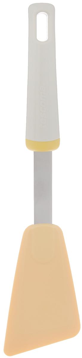 Лопатка Tescoma Delicia, длина 29 см115510Лопатка Tescoma Delicia выполнена из термостойкого нейлона (выдерживает до 210°C). Изделие отлично подходит для использования со всеми видами посуды, включая посуду с антипригарным покрытием. Не повреждает поверхность. Ручка изделия сделана из прочного пластика и нержавеющей стали.Можно мыть в посудомоечной машине.Размер рабочей поверхности: 11 х 6,5 см.