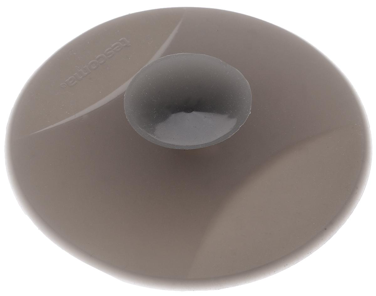 Заглушка для кухонной мойки Tescoma Clean Kit, универсальная, цвет: серый, диаметр 11 смИС.030138Заглушка для кухонной мойки Tescoma Clean Kit изготовлена из высококачественного силикона. Она отлично подходит для водонепроницаемой герметизации раковины с диаметром слива до 9 см. Устойчива к кипящей воде. После использования, прикрепите на бок раковины, используя присоску. Можно мыть в посудомоечной машине.