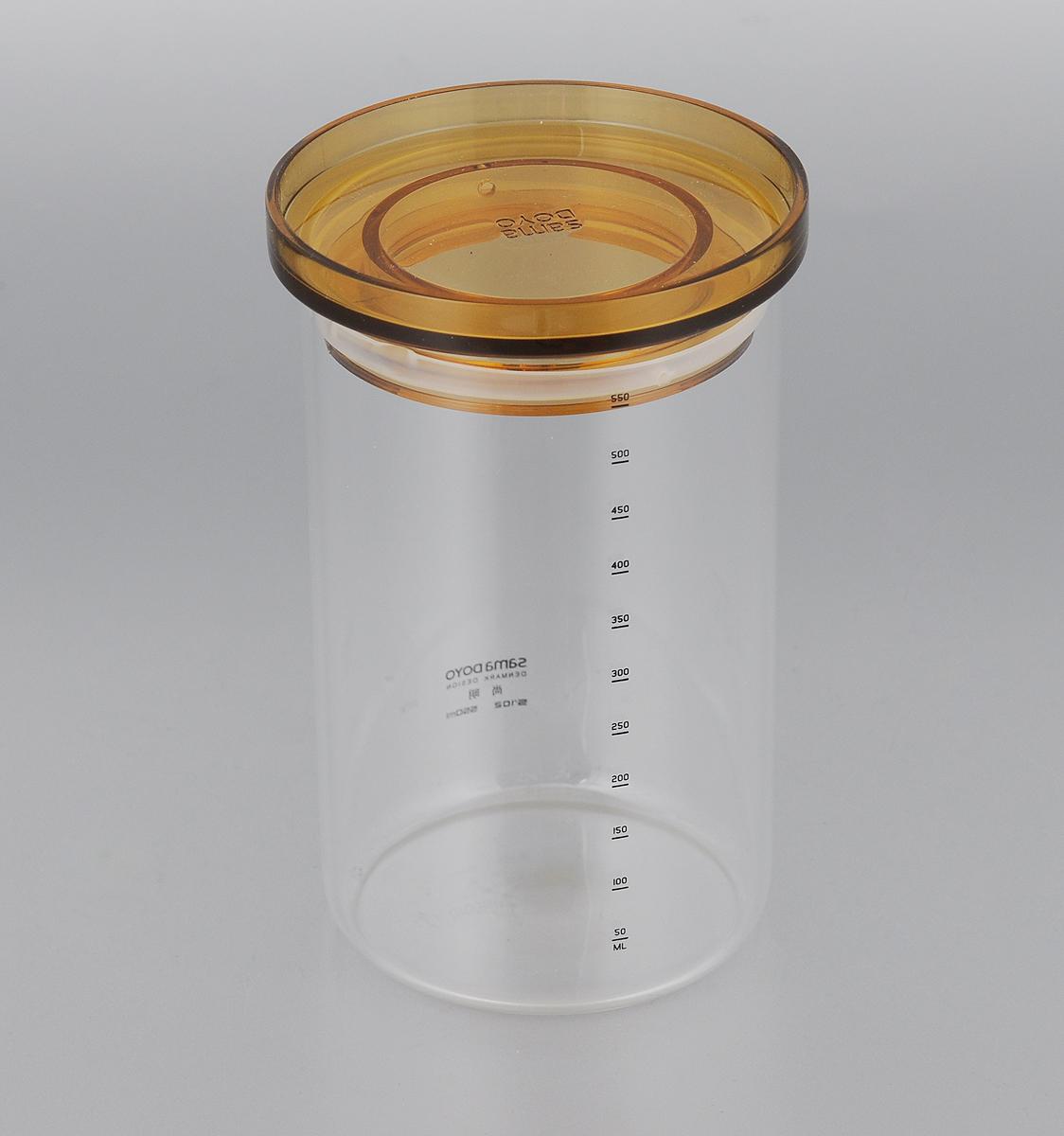 Банка для хранения чая Samadoyo, 550 млVT-1520(SR)Банка для хранения Samadoyo,изготовленная из высококачественногостекла, имеет крышку. Она предназначена для хранения чая или других сыпучих продуктов. Банка Samadoyo станет отличным дополнениемк коллекции кухонных аксессуаров и поможетэффективно организовать пространство на кухне.