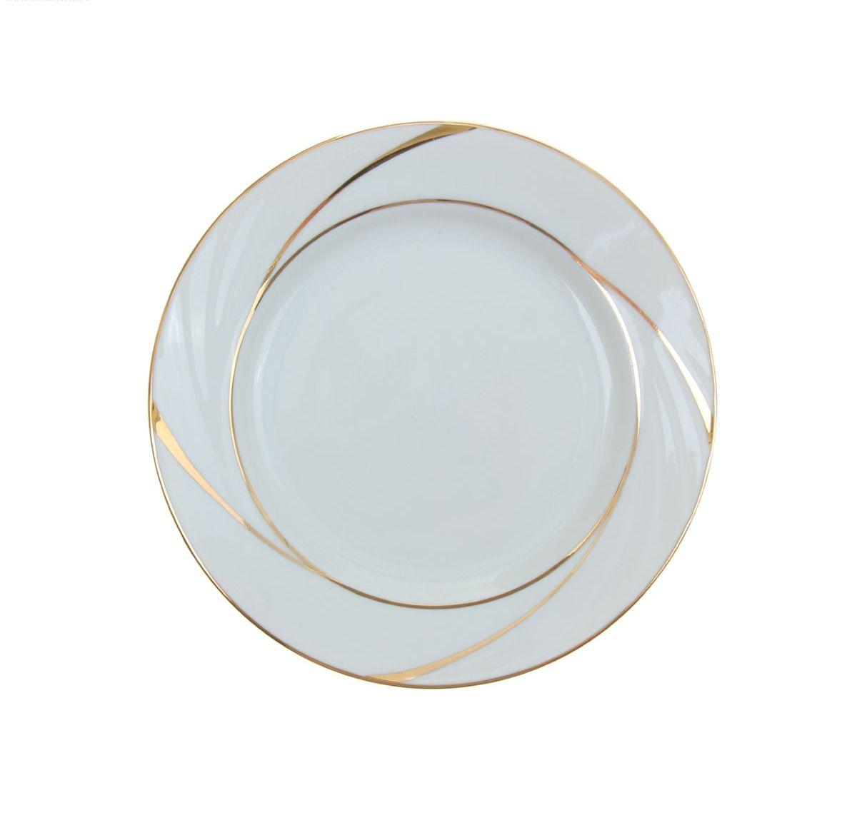 Тарелка мелкая Голубка. Бомонд, диаметр 17,5 см селедочница голубка ассорти длина 25 см