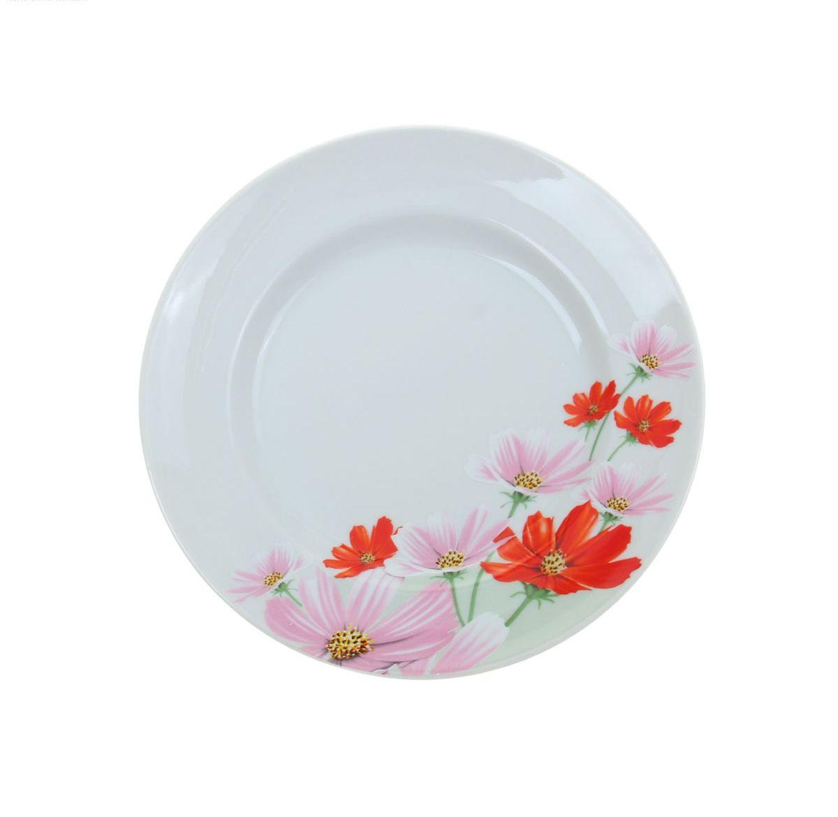 Тарелка мелкая Идиллия. Космея, диаметр 20 см1035461Мелкая тарелка Идиллия. Космея выполнена из высококачественного фарфора и украшена ярким цветочным рисунком. Она прекрасно впишется в интерьер вашей кухни и станет достойным дополнением к кухонному инвентарю. Тарелка Идиллия. Космея подчеркнет прекрасный вкус хозяйки и станет отличным подарком. Диаметр тарелки: 20 см.