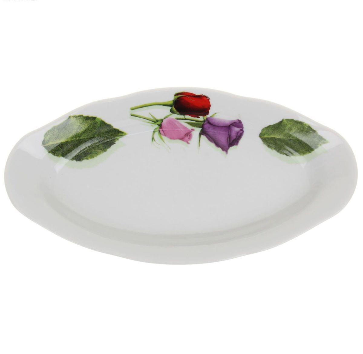 Селедочница Идиллия. Королева цветов, длина 25 смFS-91909Селедочница Идиллия. Королева цветов, изготовленная из высококачественного фарфора, оформлена красочным изображением и имеет изысканный внешний вид. Изделие имеет специальную форму, которая идеально подходит для сервировки рыбы, а также нарезок и закусок. Селедочница Идиллия. Королева цветов великолепно украсит праздничный стол и станет прекрасным дополнением к вашему кухонному инвентарю.