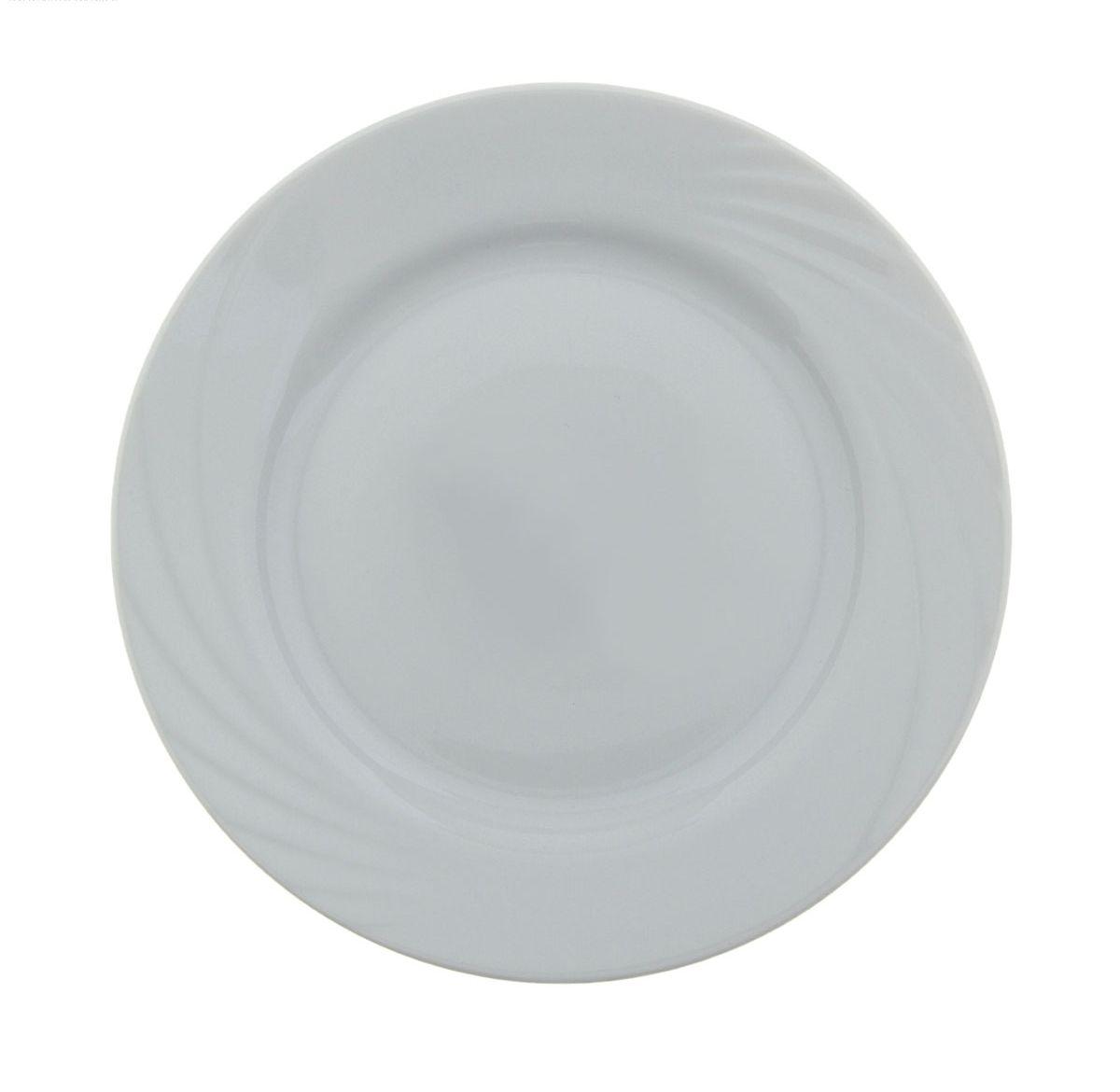 Тарелка мелкая Голубка. Белье, диаметр 17,5 см селедочница голубка ассорти длина 25 см
