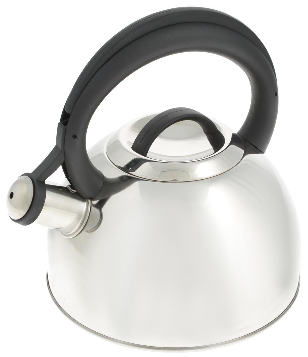 Чайник Tescoma Corona, со свистком, 2 л115510Чайник Tescoma Corona изготовлен из высококачественной нержавеющей стали с многослойным дном. Нержавеющая сталь обладает высокой устойчивостью к коррозии, не вступает в реакцию с холодными и горячими продуктами и полностью сохраняет их вкусовые качества. Особая конструкция дна способствует высокой теплопроводности и равномерному распределению тепла. Чайник оснащен жаропрочной пластиковой ручкой. Носик чайника имеет откидной свисток, звуковой сигнал которого подскажет, когда закипит вода. Подходит для всех типов плит, включая индукционные. Диаметр чайника (по верхнему краю): 10 см.Высота чайника (без учета ручки и крышки): 11,5 см.Высота чайника (с учетом ручки): 23 см.
