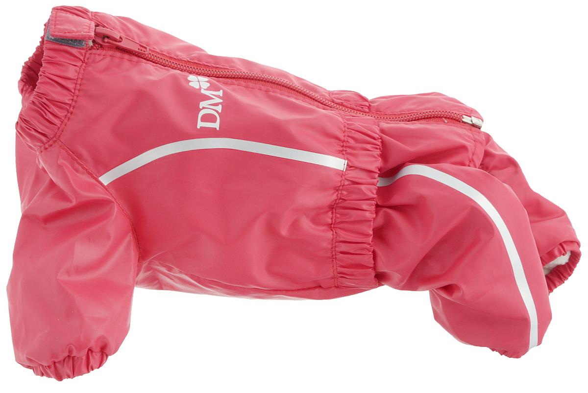 Комбинезон для собак Dogmoda Альпы, для девочки, цвет: красный. Размер 1 (S)0120710Комбинезон для собак Dogmoda Альпы отлично подойдет для прогулок поздней осенью или ранней весной.Комбинезон изготовлен из полиэстера, защищающего от ветра и осадков, с подкладкой из флиса, которая сохранит тепло и обеспечит отличный воздухообмен. Комбинезон застегивается на молнию и липучку, благодаря чему его легко надевать и снимать. Ворот, низ рукавов и брючин оснащены внутренними резинками, которые мягко обхватывают шею и лапки, не позволяя просачиваться холодному воздуху. На пояснице имеется внутренняя резинка. Изделие декорировано серебристыми полосками и надписью DM.Благодаря такому комбинезону простуда не грозит вашему питомцу и он не даст любимцу продрогнуть на прогулке.