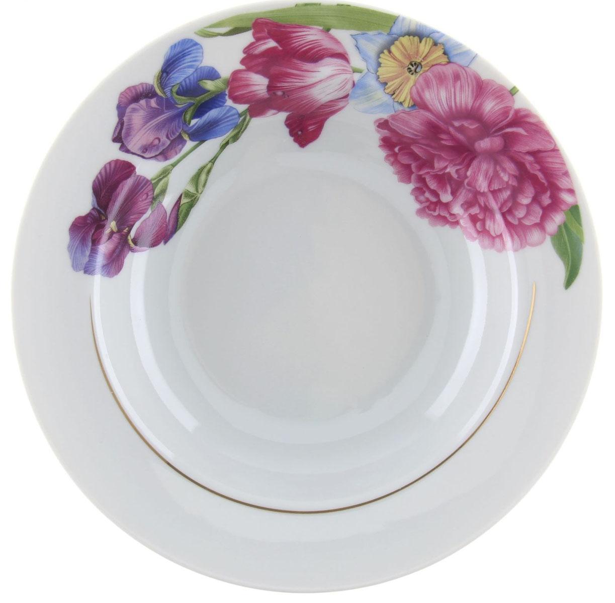 Тарелка глубокая Идиллия. Английская классика, диаметр 20 см1303829Глубокая тарелка Идиллия. Английская классика выполнена из высококачественного фарфора и украшена ярким рисунком. Она прекрасно впишется в интерьер вашей кухни и станет достойным дополнением к кухонному инвентарю. Тарелка Идиллия. Английская классика подчеркнет прекрасный вкус хозяйки и станет отличным подарком. Диаметр тарелки: 20 см.