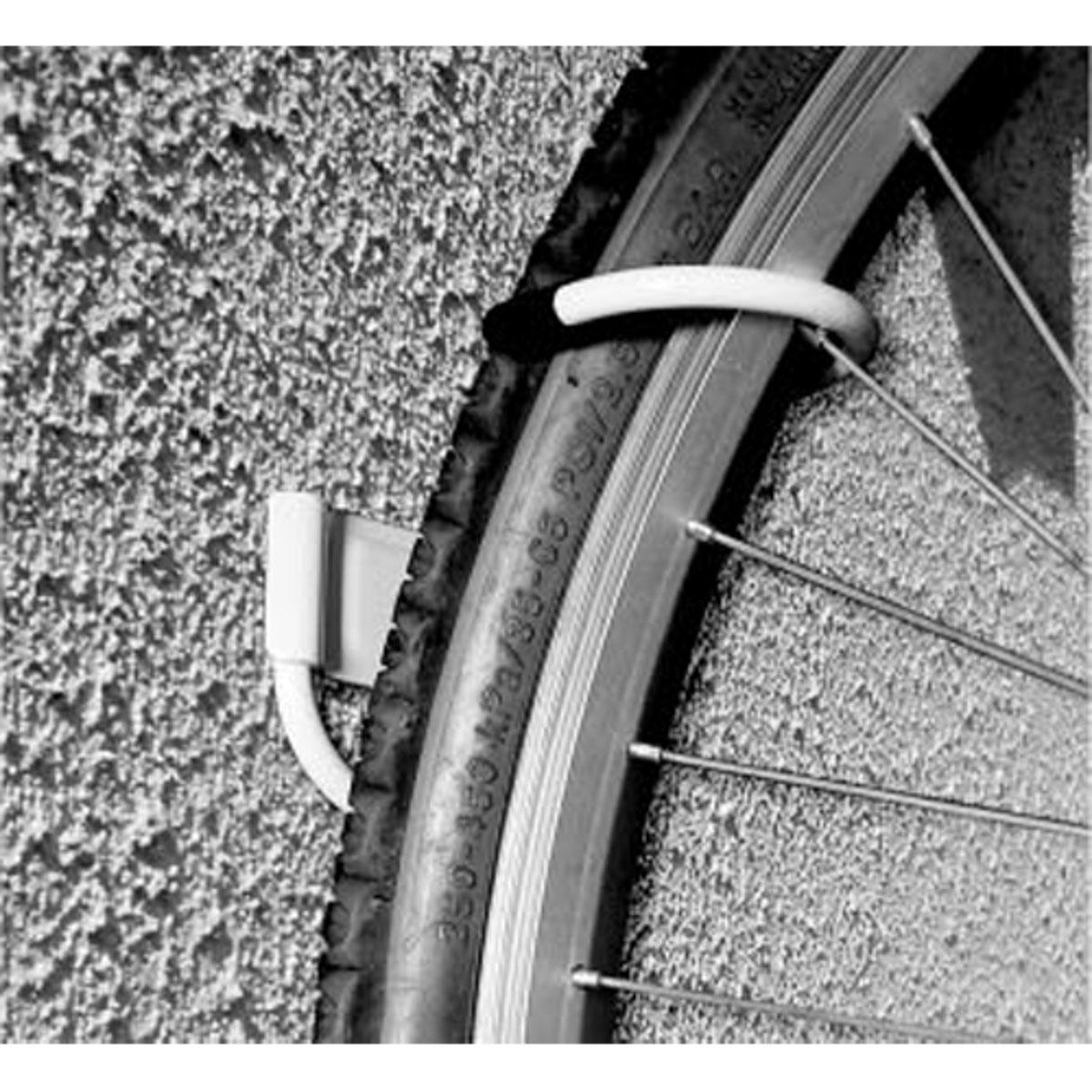 Подвес велосипедный МастерПроф, металлический, цвет: белыйТ58473Максимальная нагрузка 27 кг. Вертикальное хранение экономит пространство.Крепёж в комплекте. Цвет: Белый.