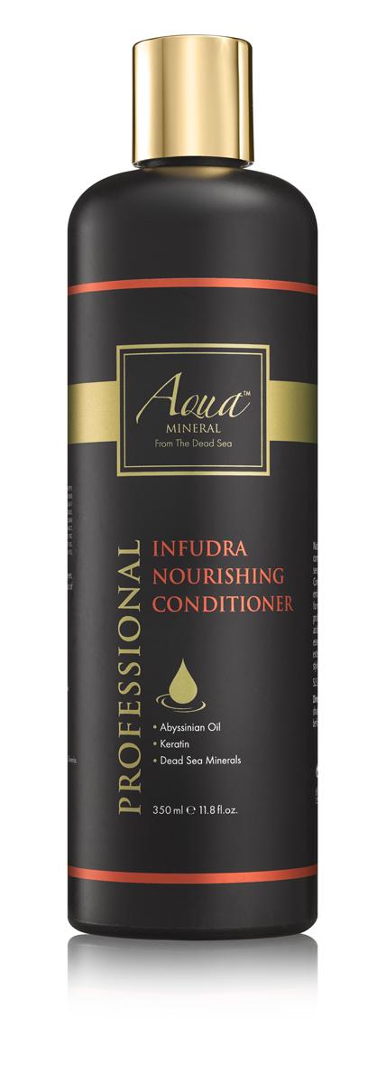 Aqua mineral Кондиционер для волос восстанавливающий и питательный 350 мл81387555Кондиционер обеспечивает интенсивный уход поврежденным, пересушенным, пористым волосам, страдающим от недостатка влаги, ломкости, сечения. Основан на минералах Мертвого моря, масле крамбе - абиссинская горчица, и кератине, которые смягчают и разглаживают волосы, стимулируют восстановление кутикулы на поврежденных участках, а уникальное сочетание витаминов и ненасыщенных жирных кислот увлажняет и распутывает волосы, защищает структуру волос от разрушения, а также увеличивает объем и придает волосам здоровый блеск.