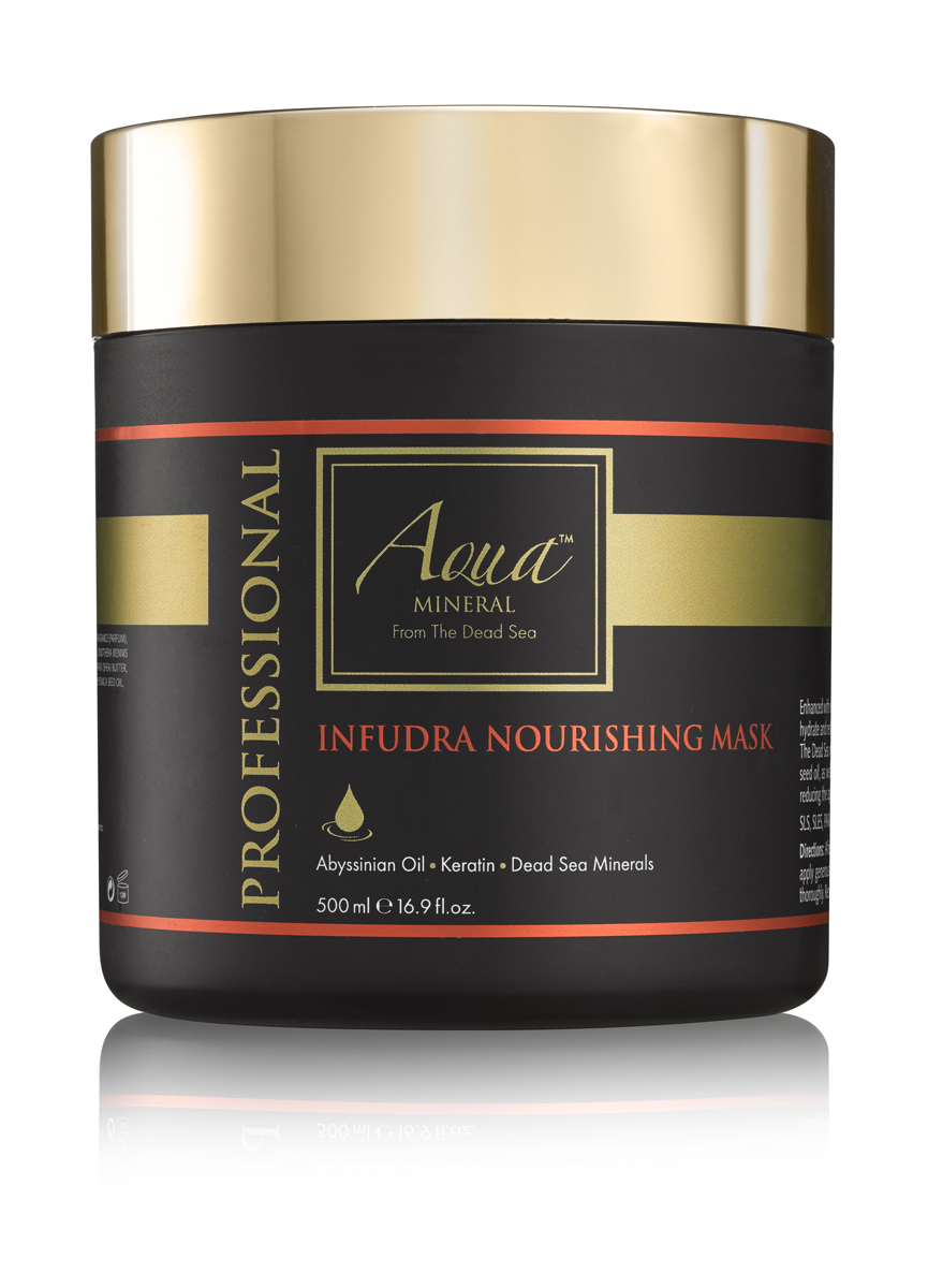 Aqua mineral Маска питательная для волос 500мл071-91-5396Богатая эфирными маслами и ненасыщенными жирными кислотами , маска питает и увлажняет по всей длине, Минералы Мертвого моря, известные своими омолаживающими свойствами, масло крамбе (абиссинская горчица), а также кератин, масло ши и экстракт ромашки восстанавливаютповрежденные, сухие и тусклые волосы,разглаживает, предотвращает сечение кончиков и повреждение волос в процессе укладки, способствует сохранению цвета волос.
