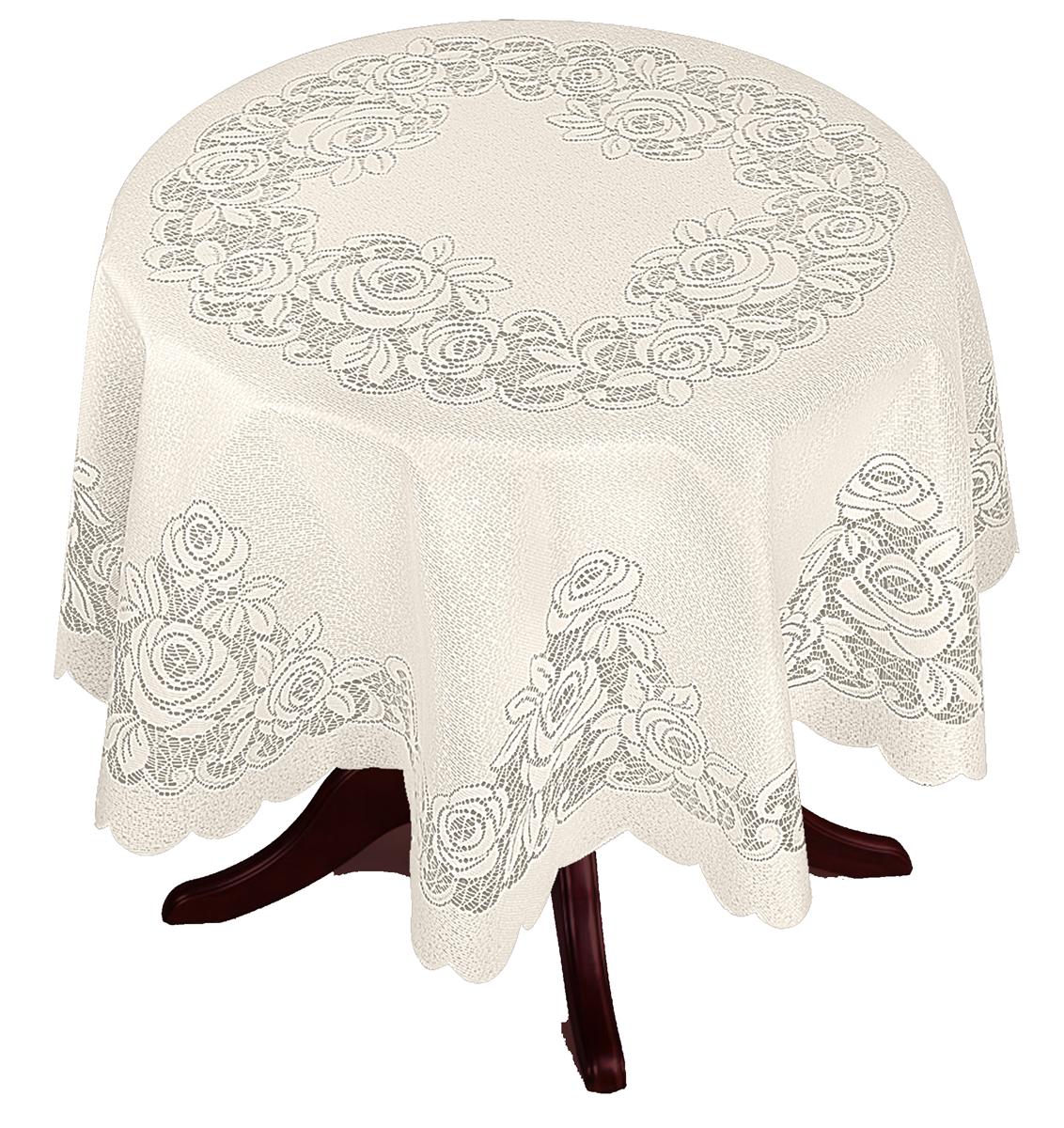 Скатерть Zlata Korunka, круглая, цвет: шампань, диаметр 175 смVT-1520(SR)Великолепная скатерть Zlata Korunka, выполненная из полиэстера, органично впишется в интерьер любого помещения, а оригинальный дизайн удовлетворит даже самый изысканный вкус. Она создаст праздничное настроение и станет прекрасным дополнением интерьера гостиной, кухни или столовой.