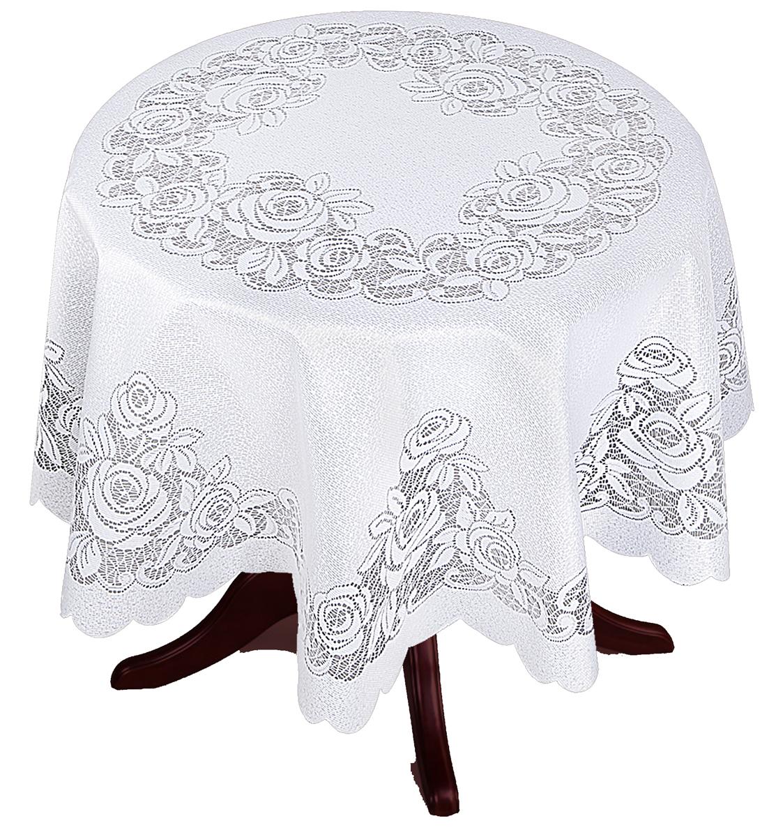 Скатерть Zlata Korunka, круглая, цвет: белый, диаметр 175 смVT-1520(SR)Великолепная скатерть Zlata Korunka, выполненная из полиэстера, органично впишется в интерьер любого помещения, а оригинальный дизайн удовлетворит даже самый изысканный вкус. Она создаст праздничное настроение и станет прекрасным дополнением интерьера гостиной, кухни или столовой.