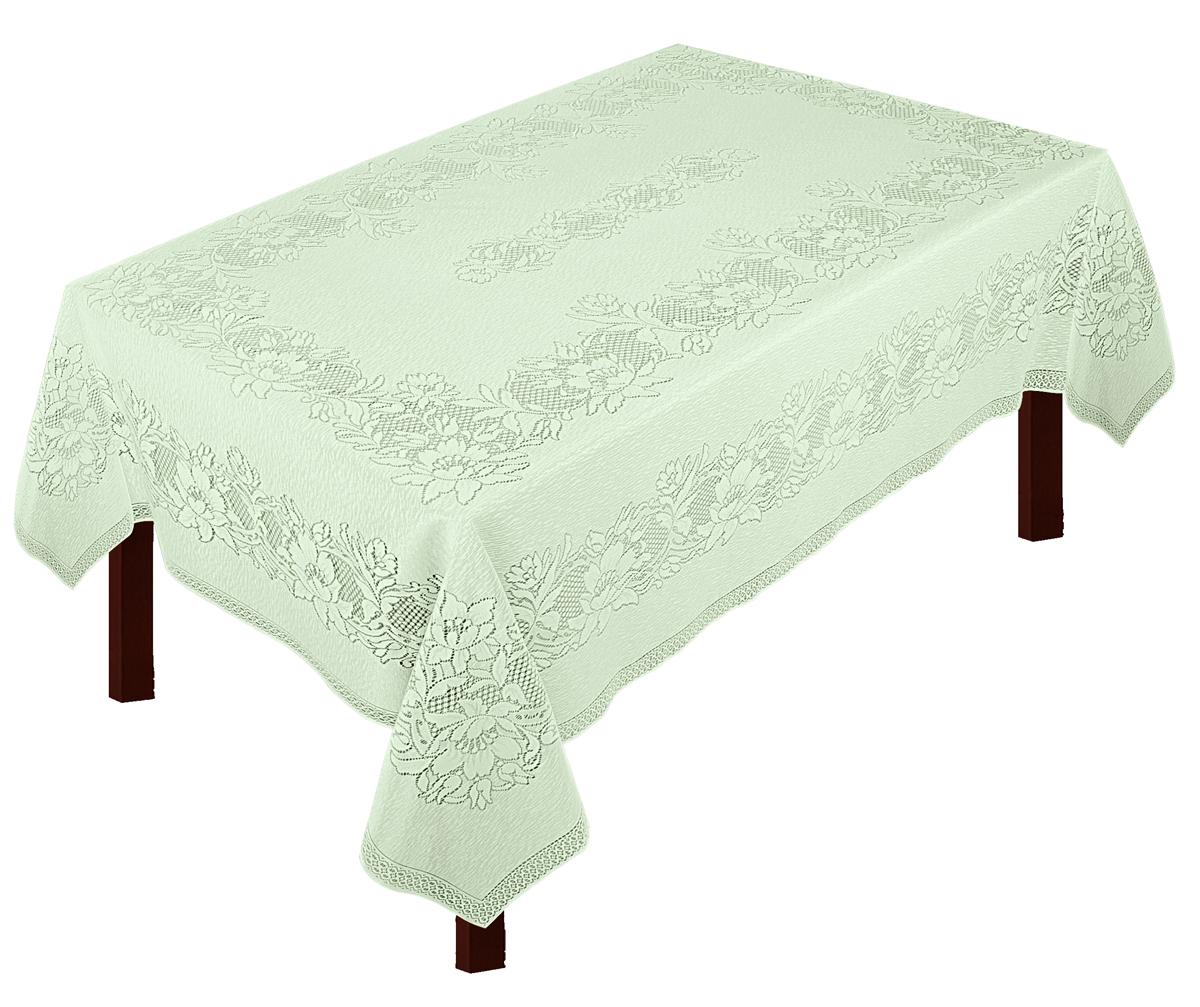Скатерть Zlata Korunka, прямоугольная, цвет: фисташковый, 235 х 165 смVT-1520(SR)Великолепная скатерть Zlata Korunka, выполненная из полиэстеровых волокон, органично впишется в интерьер любого помещения, а оригинальный дизайн удовлетворит даже самый изысканный вкус. Изделие не скользит со стола, легко стирается и прослужит вам долгое время.