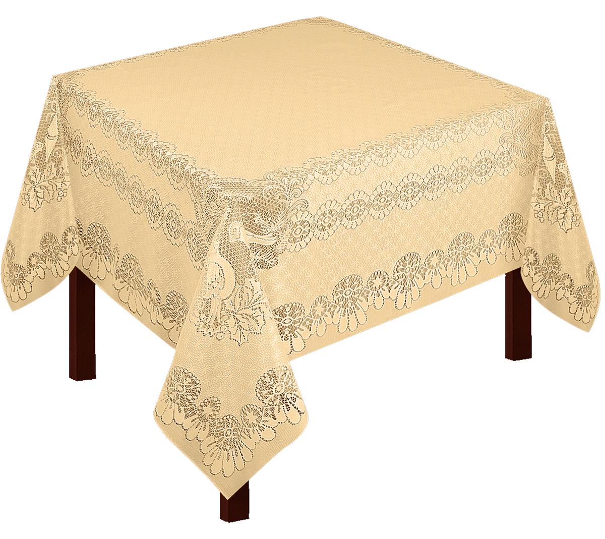 Скатерть Zlata Korunka, прямоугольная, цвет: золотистый, 165 х 150 смVT-1520(SR)Скатерть прямоугольная р.165*150, 100% п/э, золото. Скатерть не мнется, легко стирается и очень быстро сохнет