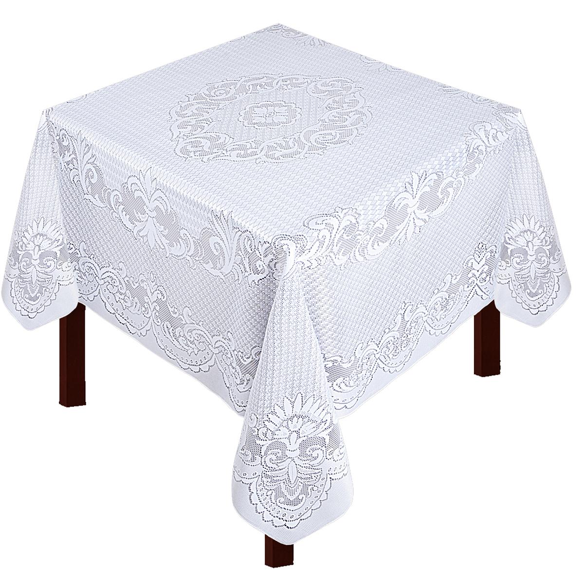 Скатерть Zlata Korunka, прямоугольная, цвет: белый, 175 х 165 смVT-1520(SR)Скатерть прямоугольная р.175*165, 100% п/э, белый. Скатерть не мнется, легко стирается и очень быстро сохнет