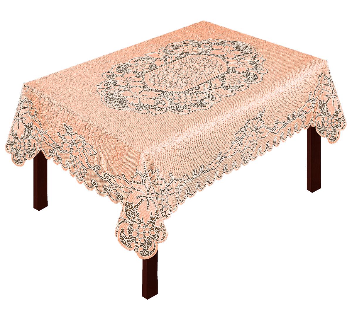 Скатерть Zlata Korunka, прямоугольная, цвет: терракотовый, 125 х 90 смВетерок 2ГФВеликолепная скатерть Zlata Korunka, выполненная из полиэстера жаккардового переплетения, органично впишется в интерьер любого помещения, а оригинальный дизайн удовлетворит даже самый изысканный вкус. Изделие не скользит со стола, легко стирается и прослужит вам долгое время. Скатерть создаст праздничное настроение и станет прекрасным дополнением интерьера гостиной, кухни или столовой.