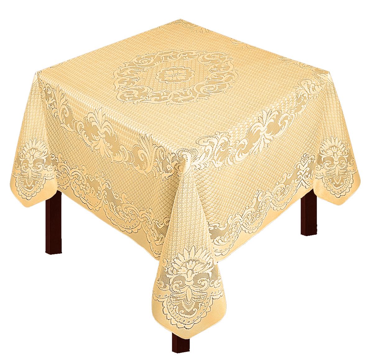 Скатерть Zlata Korunka, прямоугольная, цвет: золотистый, 175 х 165 смВетерок 2ГФСкатерть выполнена из полиэстера жаккардового переплетения, не скользит со стола, легко стирается и прослужит Вам долгое время. Скатерть - длина 165 х шир.150