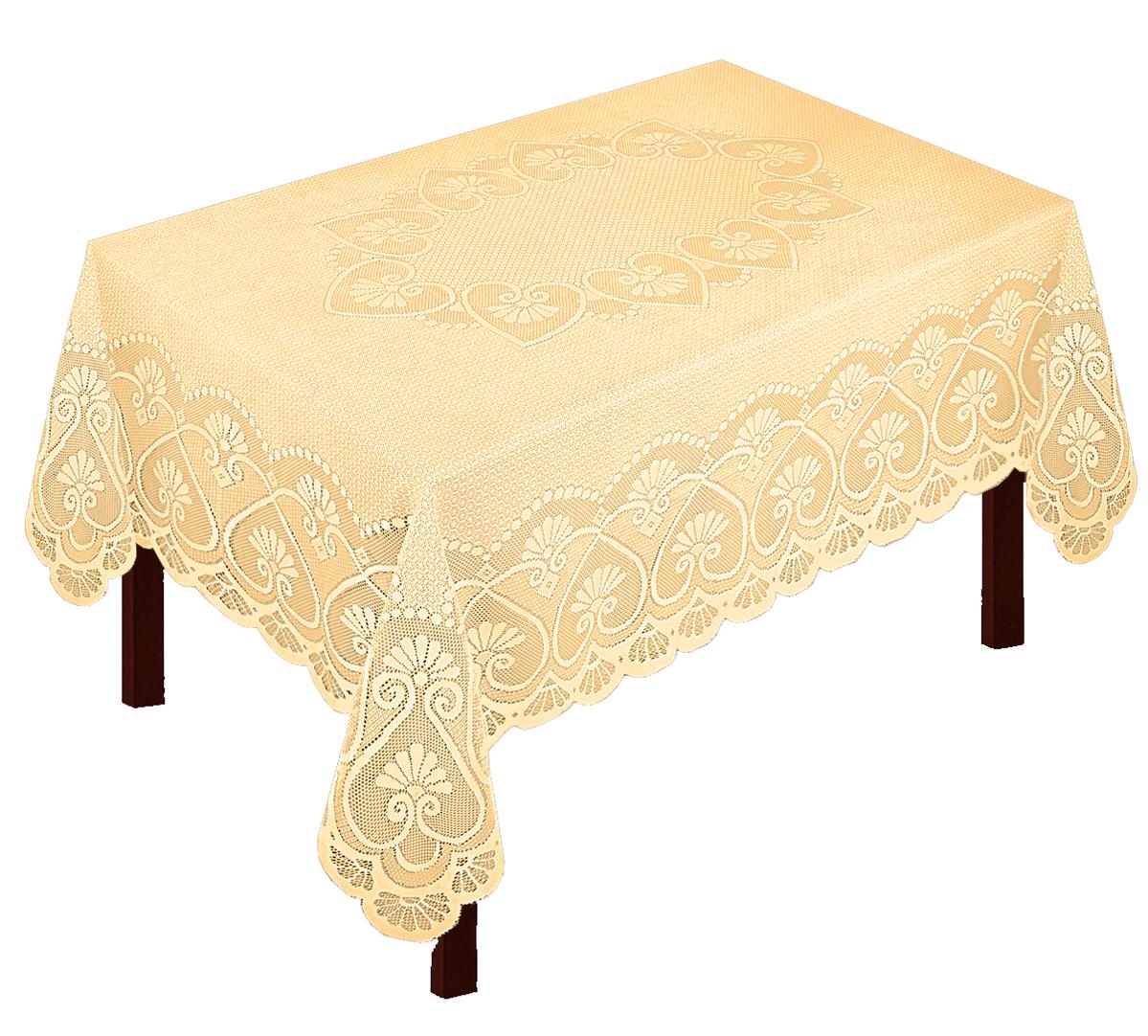 Скатерть Zlata Korunka, прямоугольная, цвет: золотистый, 205 х 165 см. 80029AMC-00070Великолепная скатерть Zlata Korunka, выполненная из полиэстера жаккардового переплетения, органично впишется в интерьер любого помещения, а оригинальный дизайн удовлетворит даже самый изысканный вкус. Изделие не скользит со стола, легко стирается и прослужит вам долгое время. Скатерть создаст праздничное настроение и станет прекрасным дополнением интерьера гостиной, кухни или столовой.