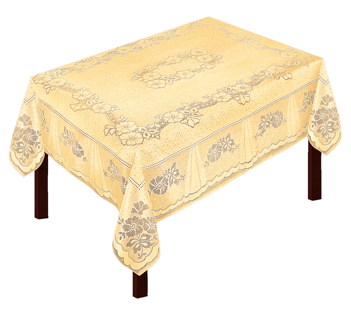 Скатерть Zlata Korunka, прямоугольная, цвет: золотистый, 175 х 150 смVT-1520(SR)Скатерть выполнена из полиэстера жаккардового переплетения, не скользит со стола, легко стирается и прослужит Вам долгое время.
