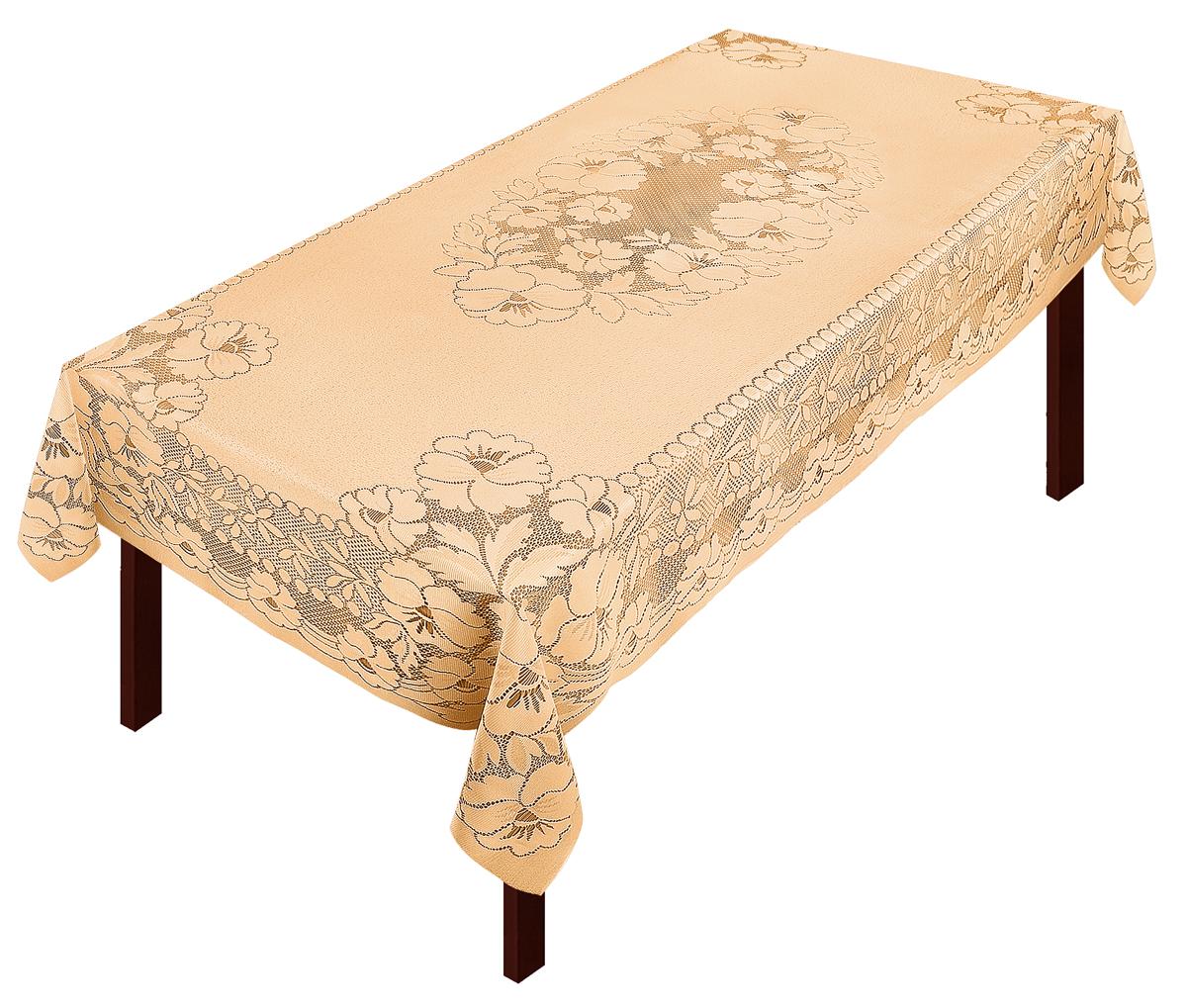 Скатерть Zlata Korunka, прямоугольная, цвет: золотистый, 250 х 150 смVT-1520(SR)Скатерть выполнена из полиэстера жаккардового переплетения, не скользит со стола, легко стирается и прослужит Вам долгое время.